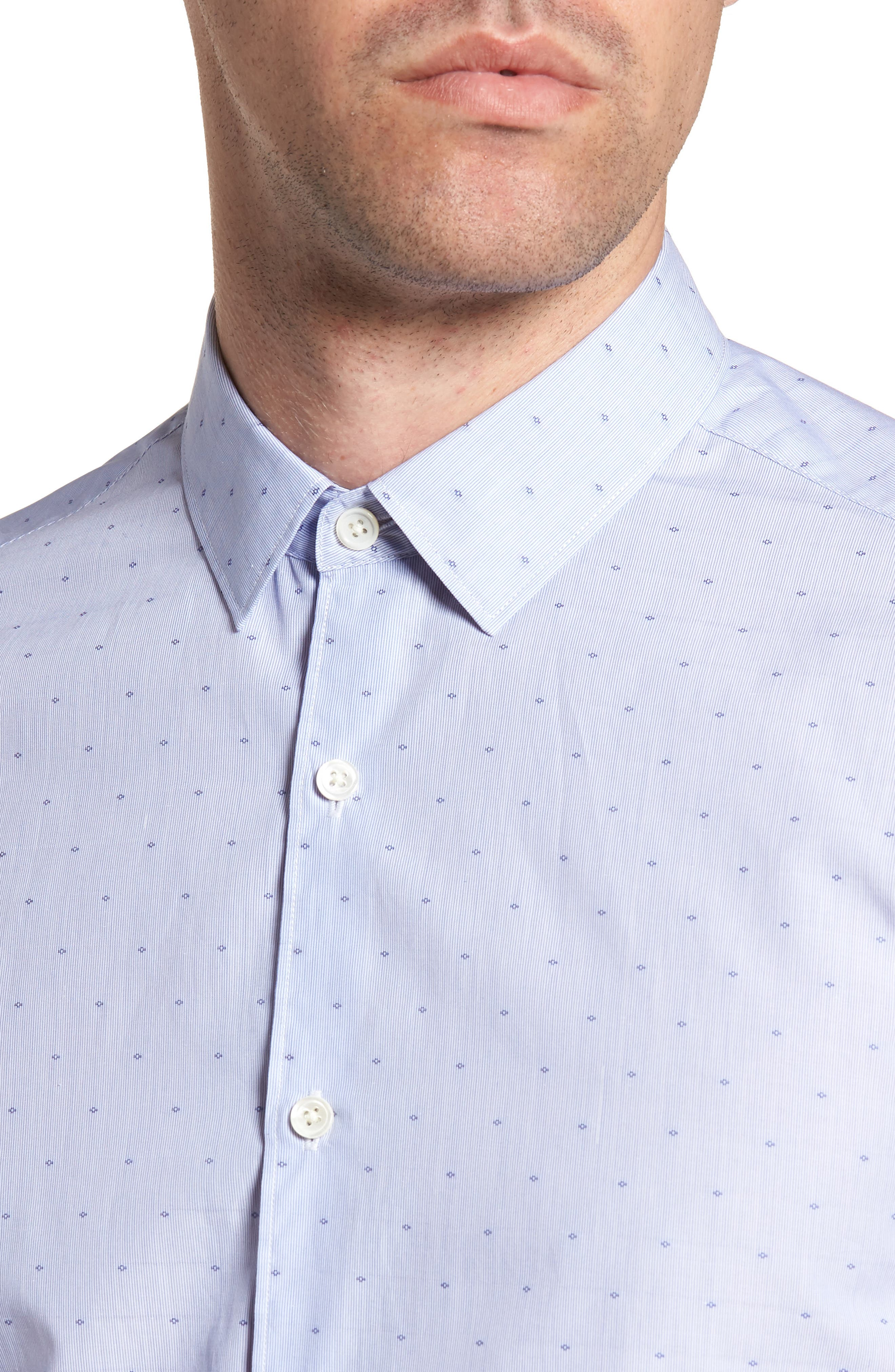 Murrary Coupe Trim Fit Sport Shirt,                             Alternate thumbnail 4, color,                             Finch