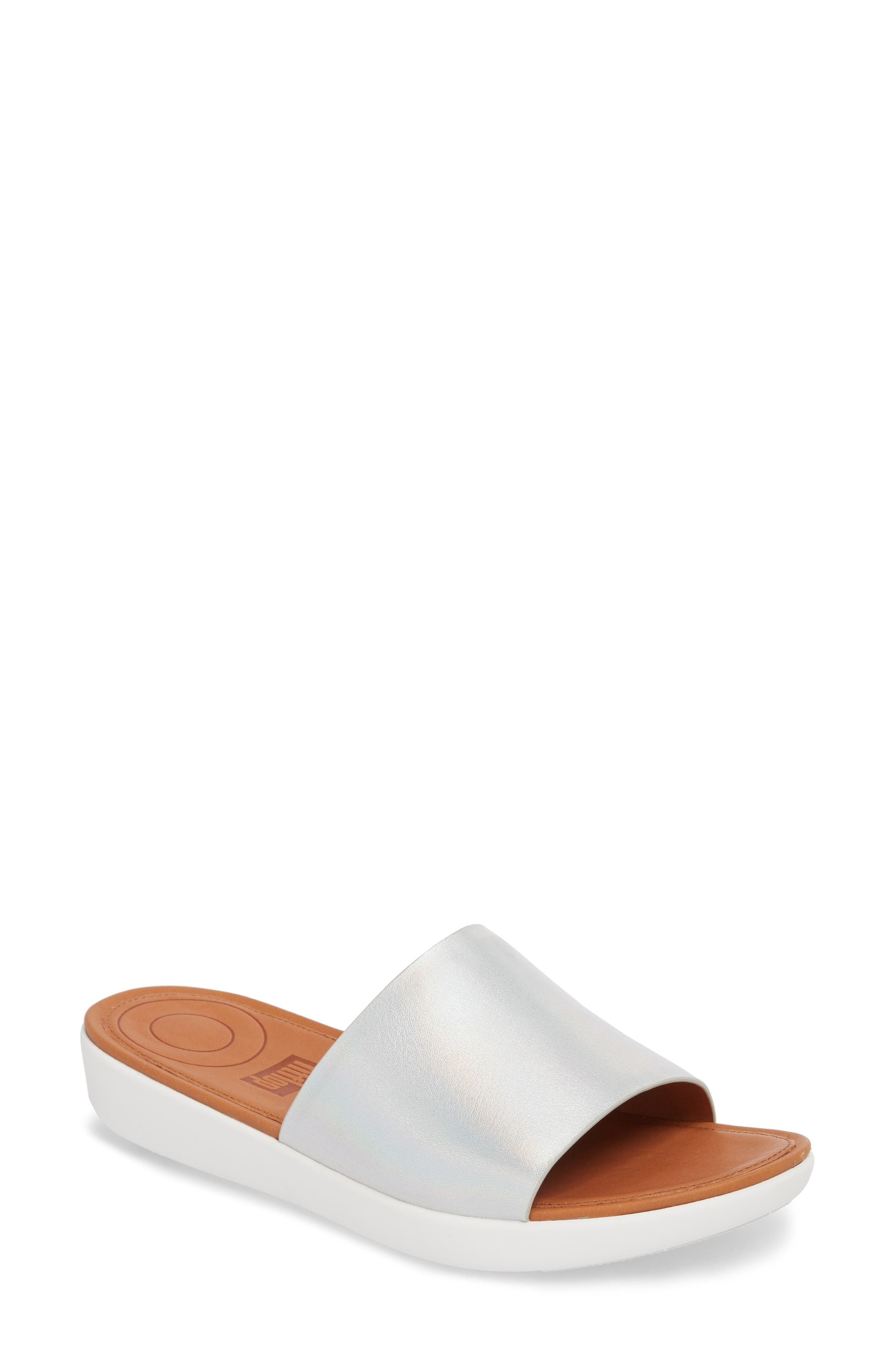 Sola Sandal,                         Main,                         color, Silver Iridescent