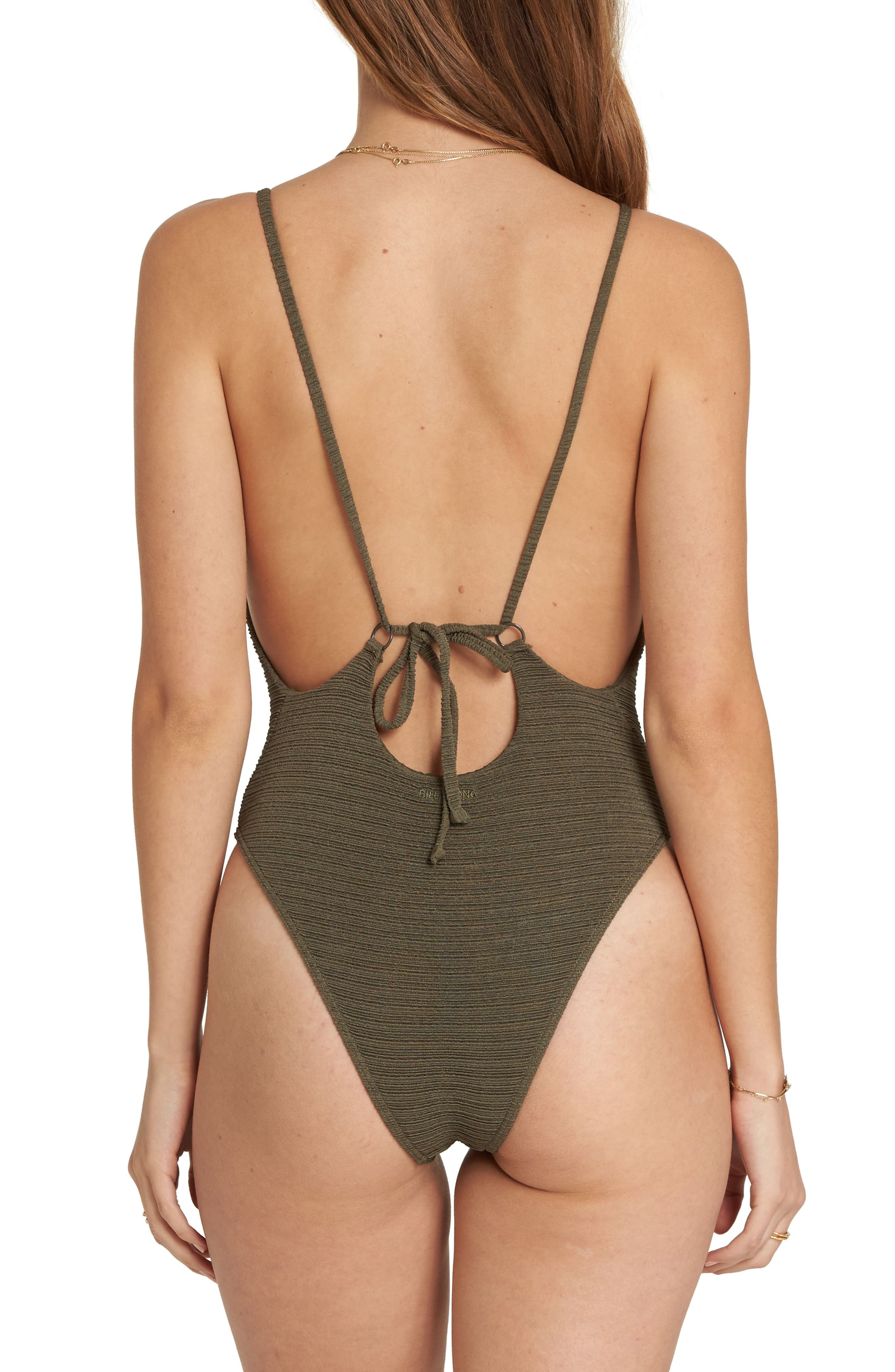 No Hurry One-Piece Swimsuit,                             Alternate thumbnail 2, color,                             Olive