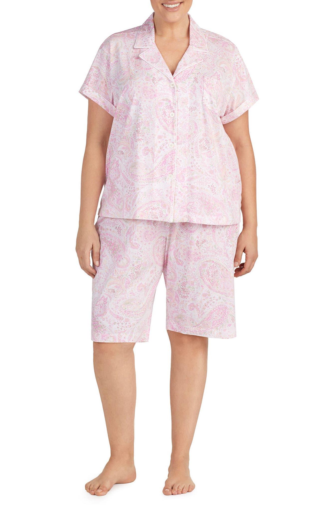 Lauren Ralph Lauren Short Pajamas (Plus Size)