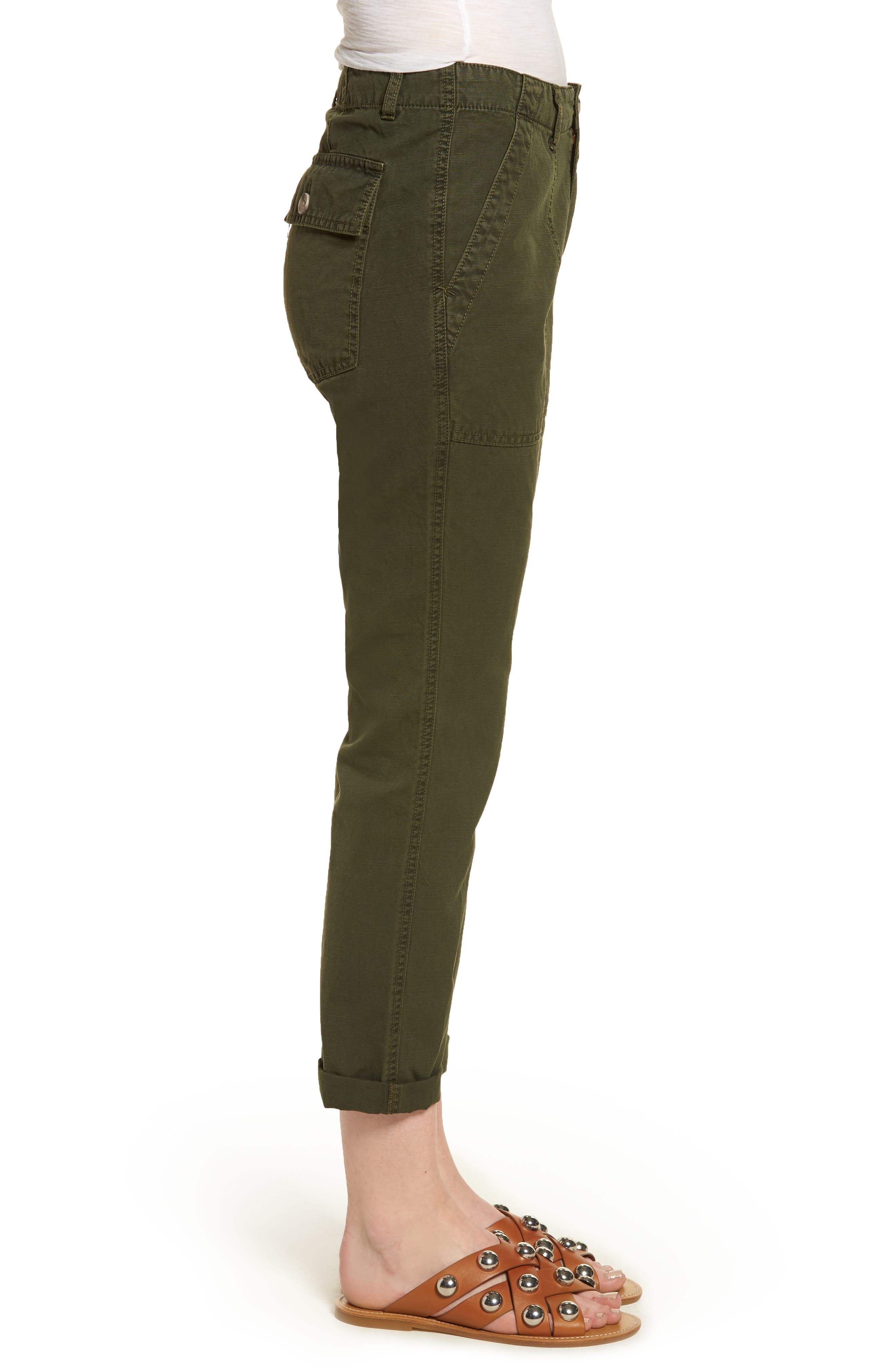 The Wes Utilitarian Relaxed Straight Pants,                             Alternate thumbnail 3, color,                             Sulfur Desert Pine