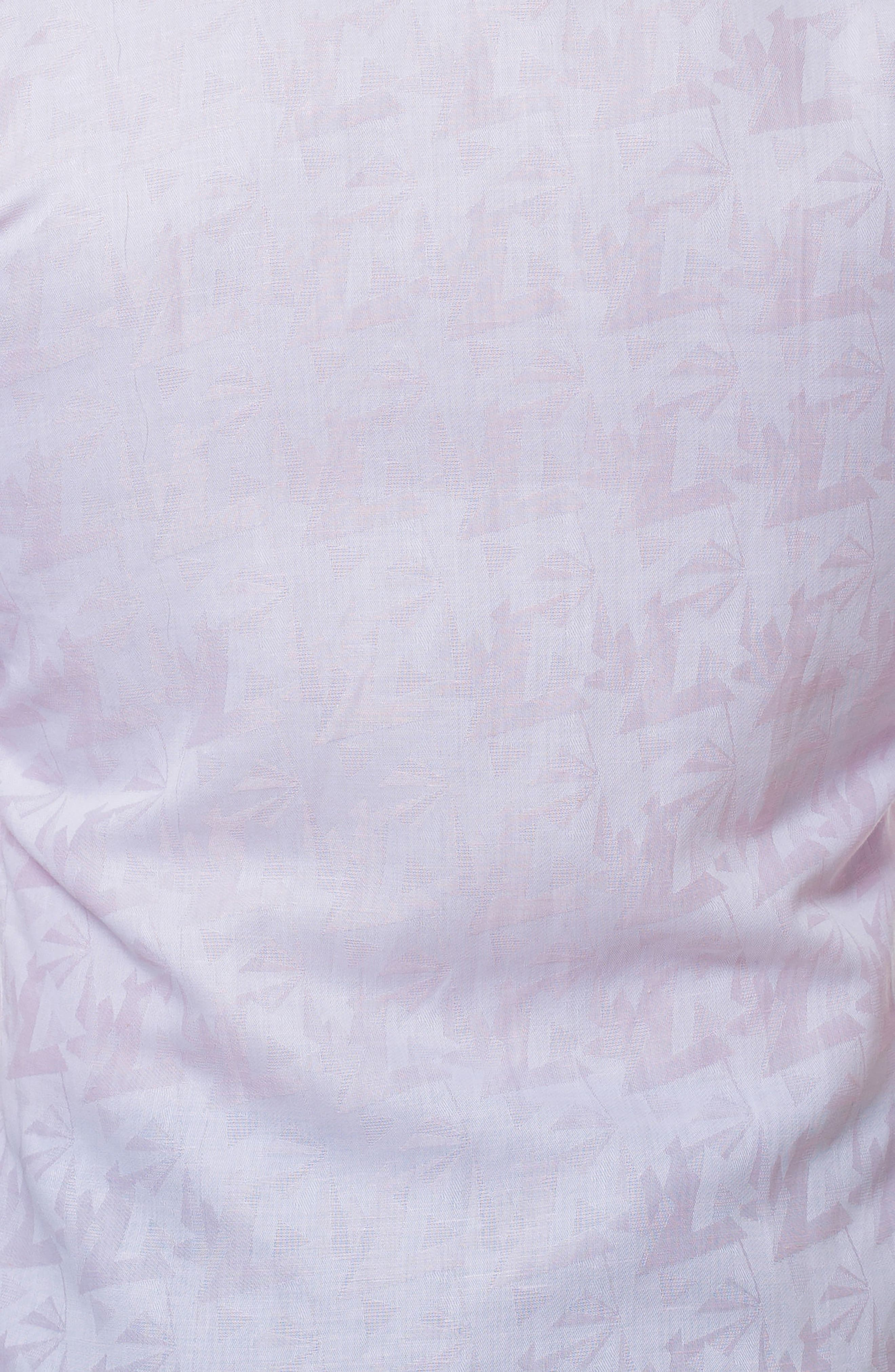 Wall Street Slim Fit Sport Shirt,                             Alternate thumbnail 4, color,                             Pink