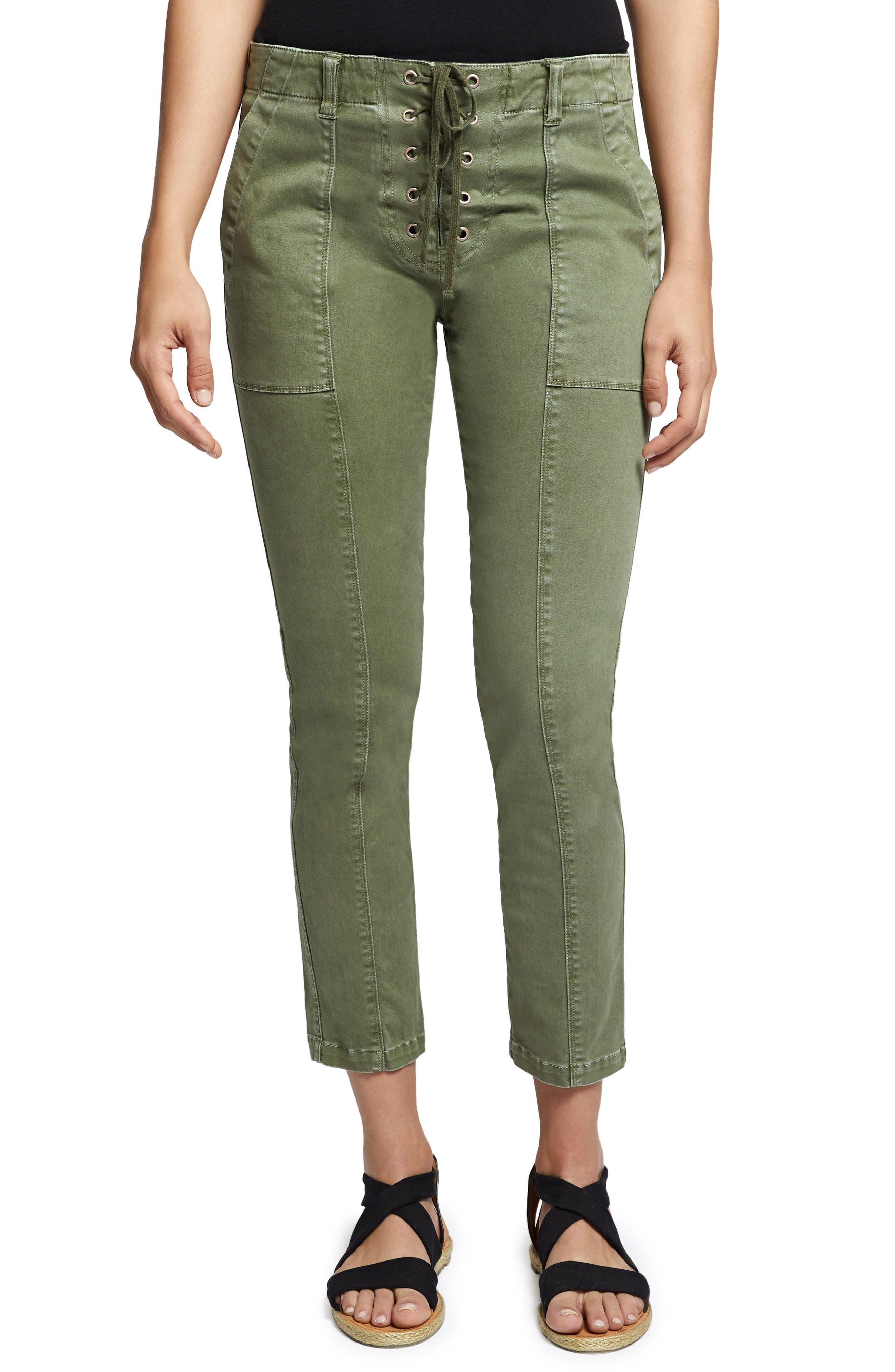 Peace Lace-Up Pants,                         Main,                         color, Cadet