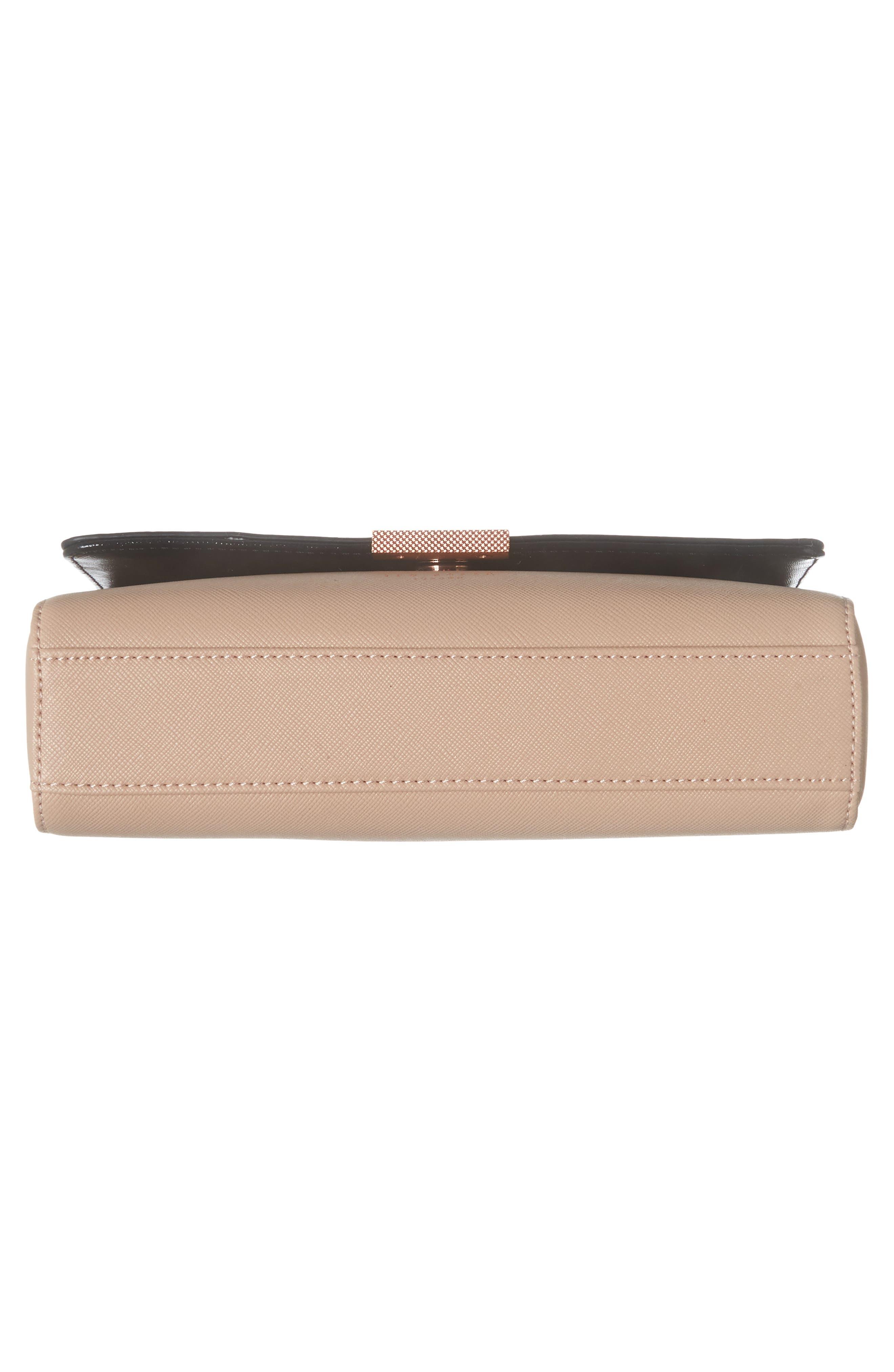 Demonda Faux Leather Crossbody Bag,                             Alternate thumbnail 6, color,                             Taupe