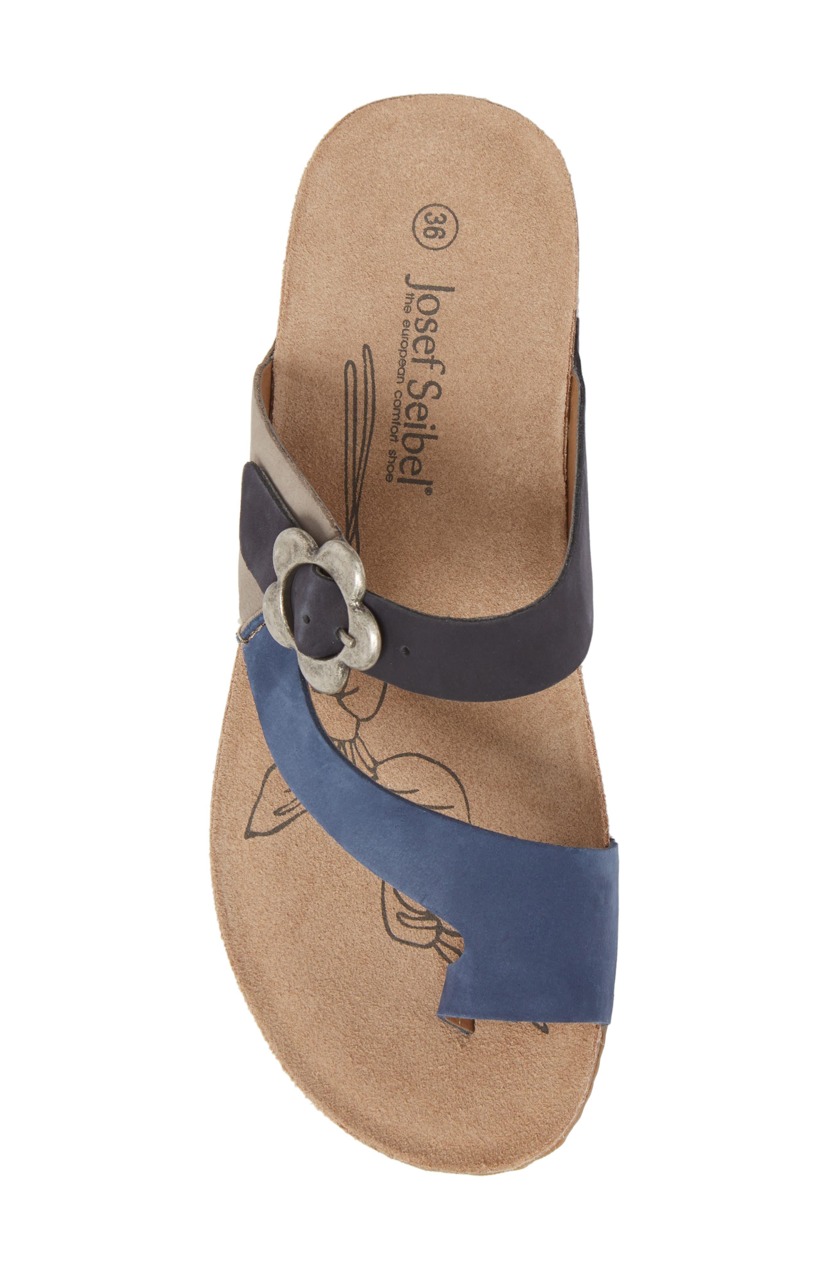 Tonga 23 Sandal,                             Alternate thumbnail 5, color,                             Blue Multi Leather