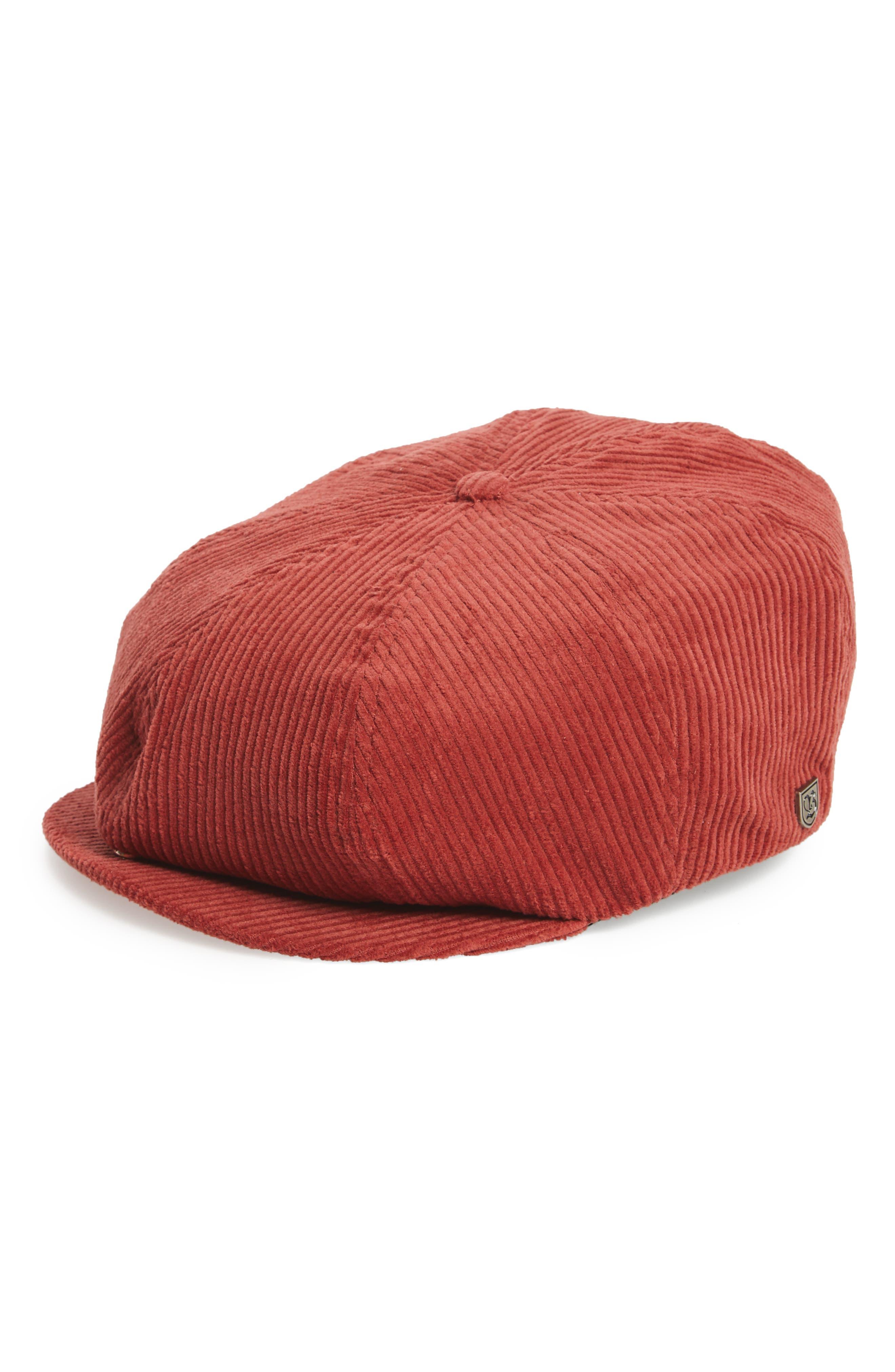 Brood Corduroy Newsboy Cap,                         Main,                         color, Tan Stripe