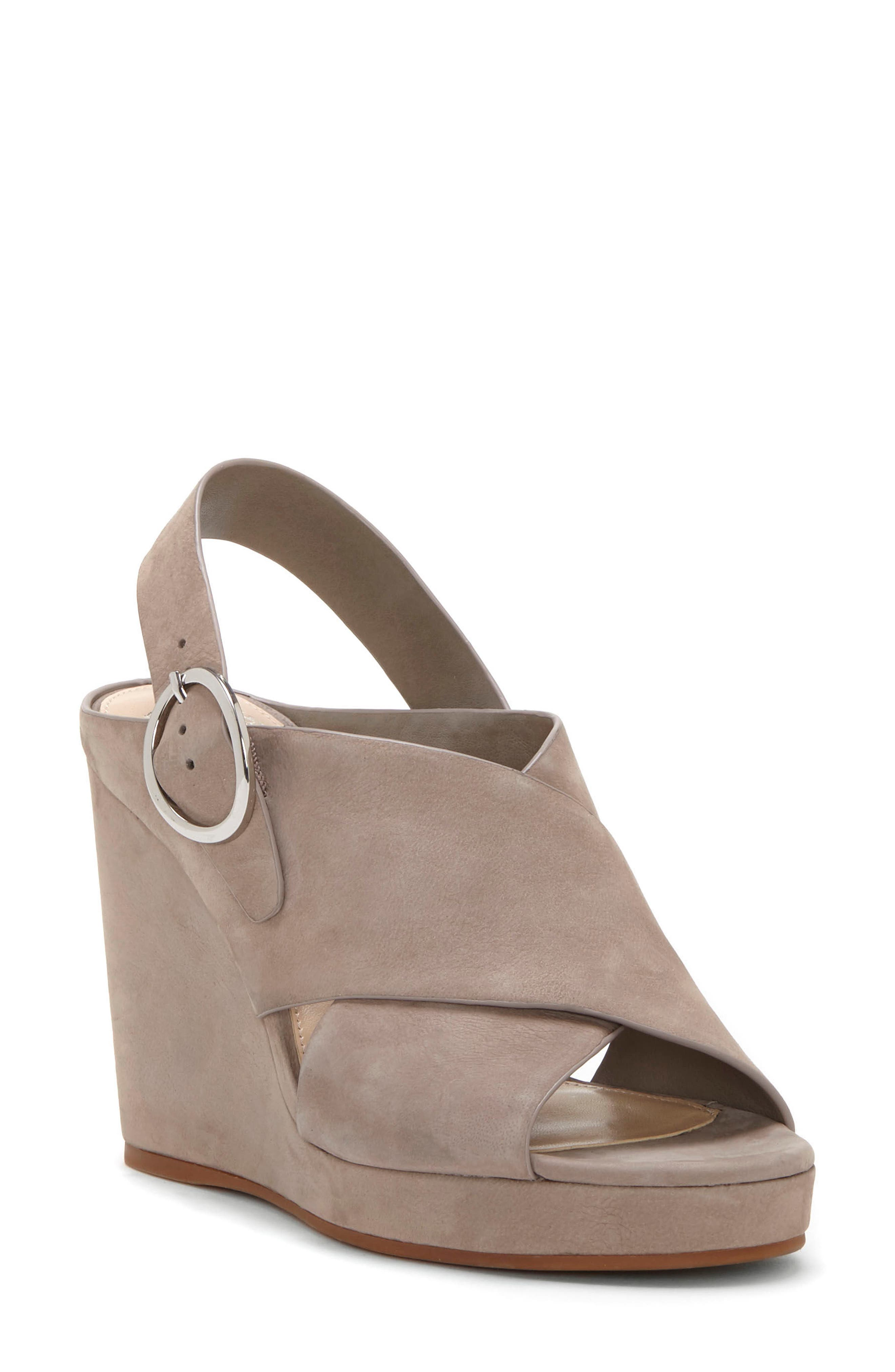 Iteena Wedge Sandal,                         Main,                         color, Hippo Grey Leather