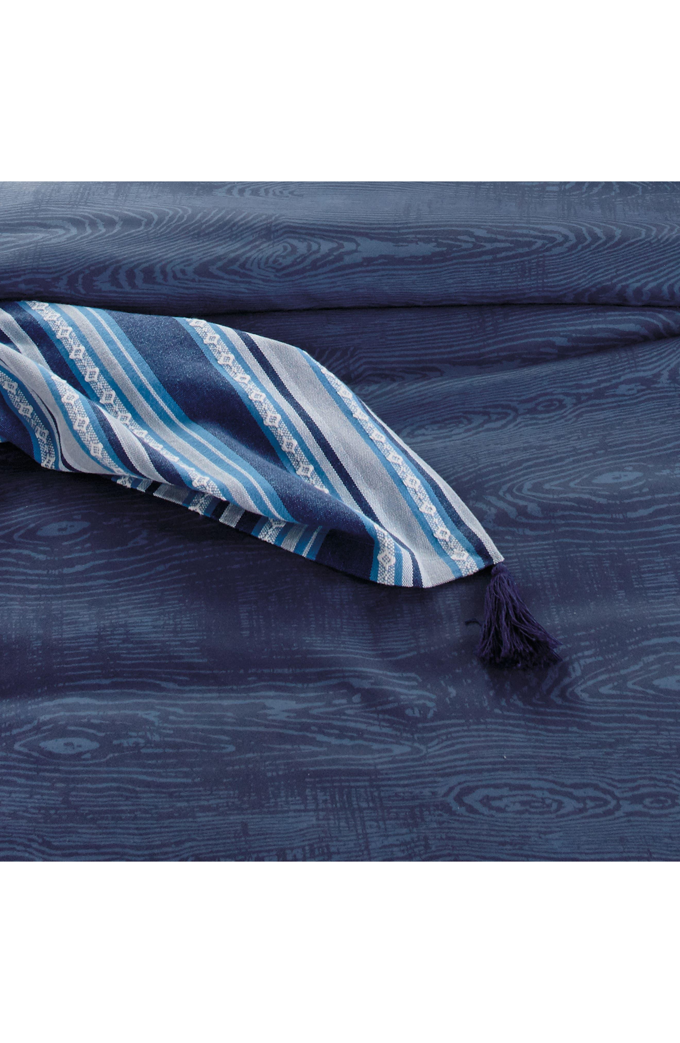 Woodgrain Comforter & Sham Set,                             Alternate thumbnail 3, color,                             Navy