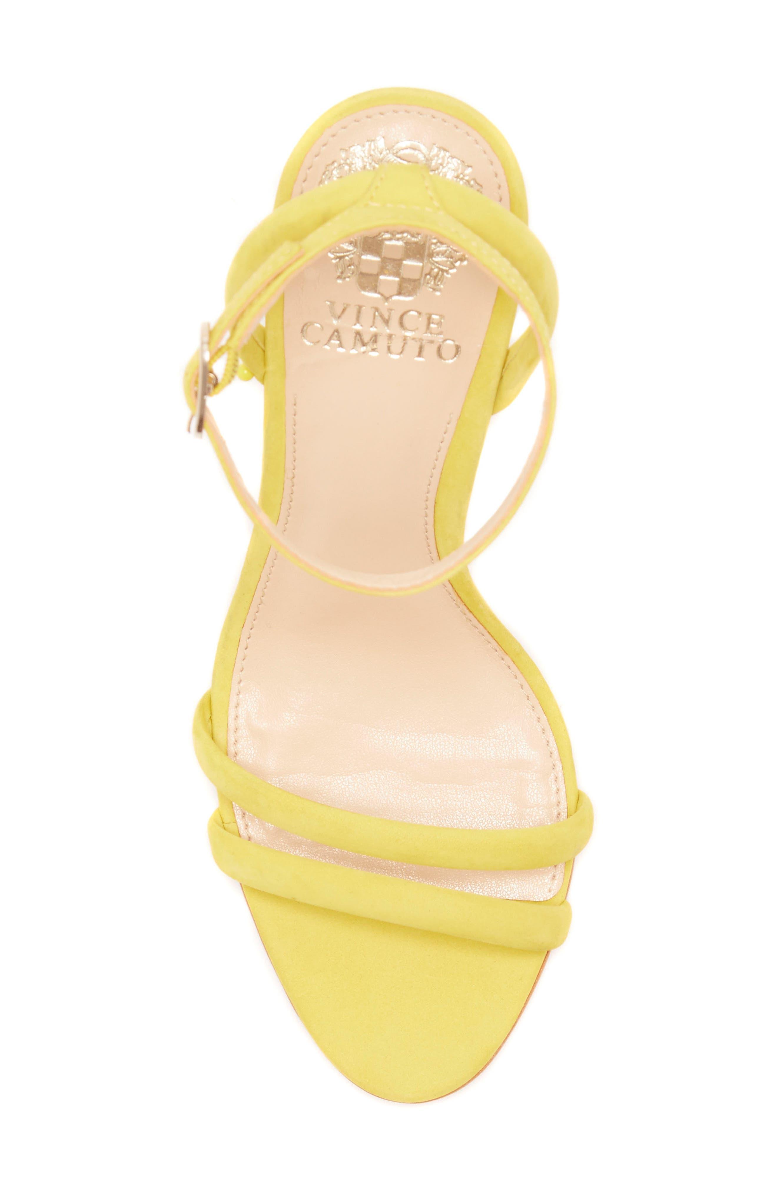 Kareenat Sandal,                             Alternate thumbnail 5, color,                             Yellow Nubuck Leather