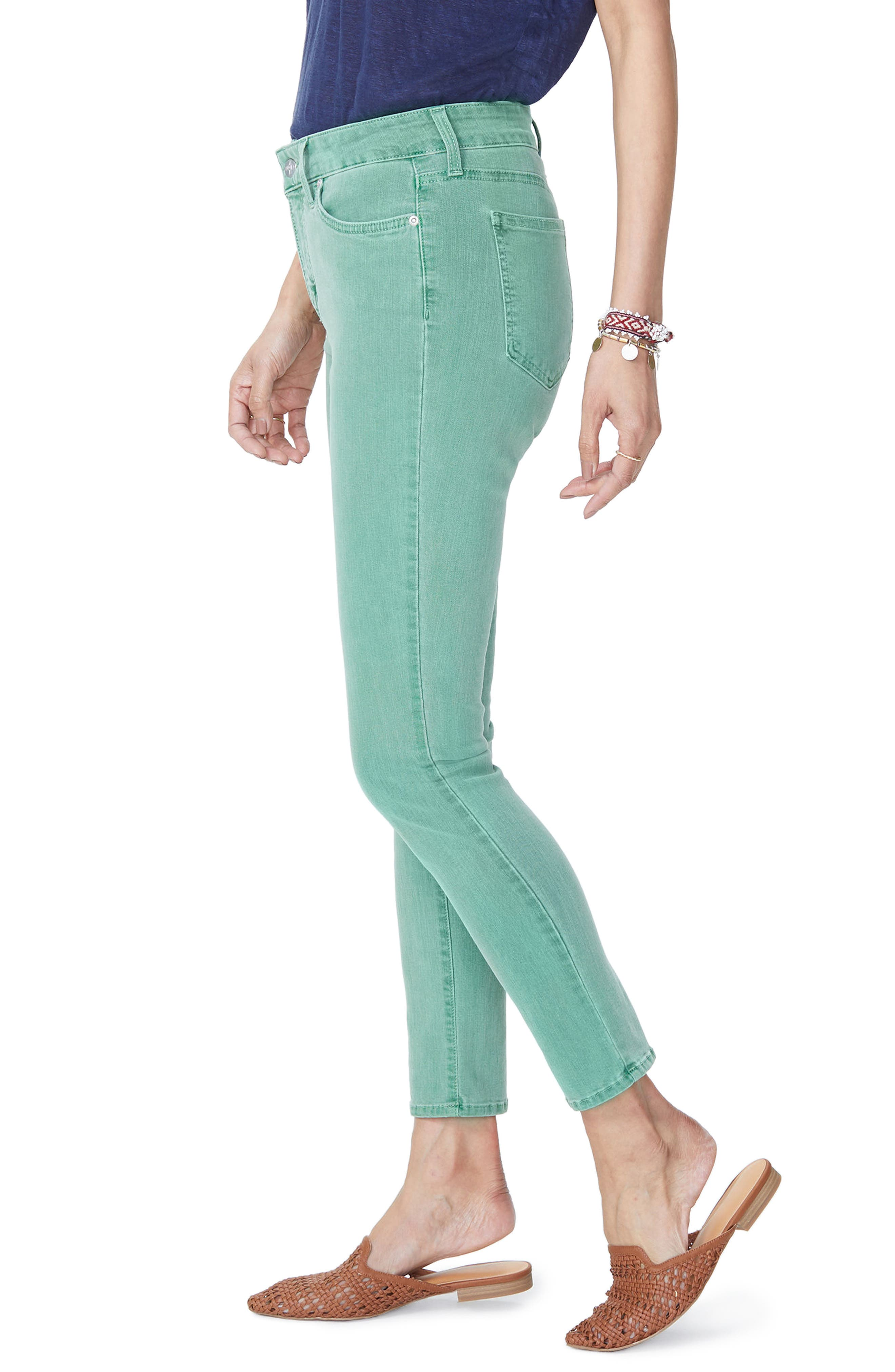 Alina Ankle Jeans,                             Alternate thumbnail 3, color,                             Cactus