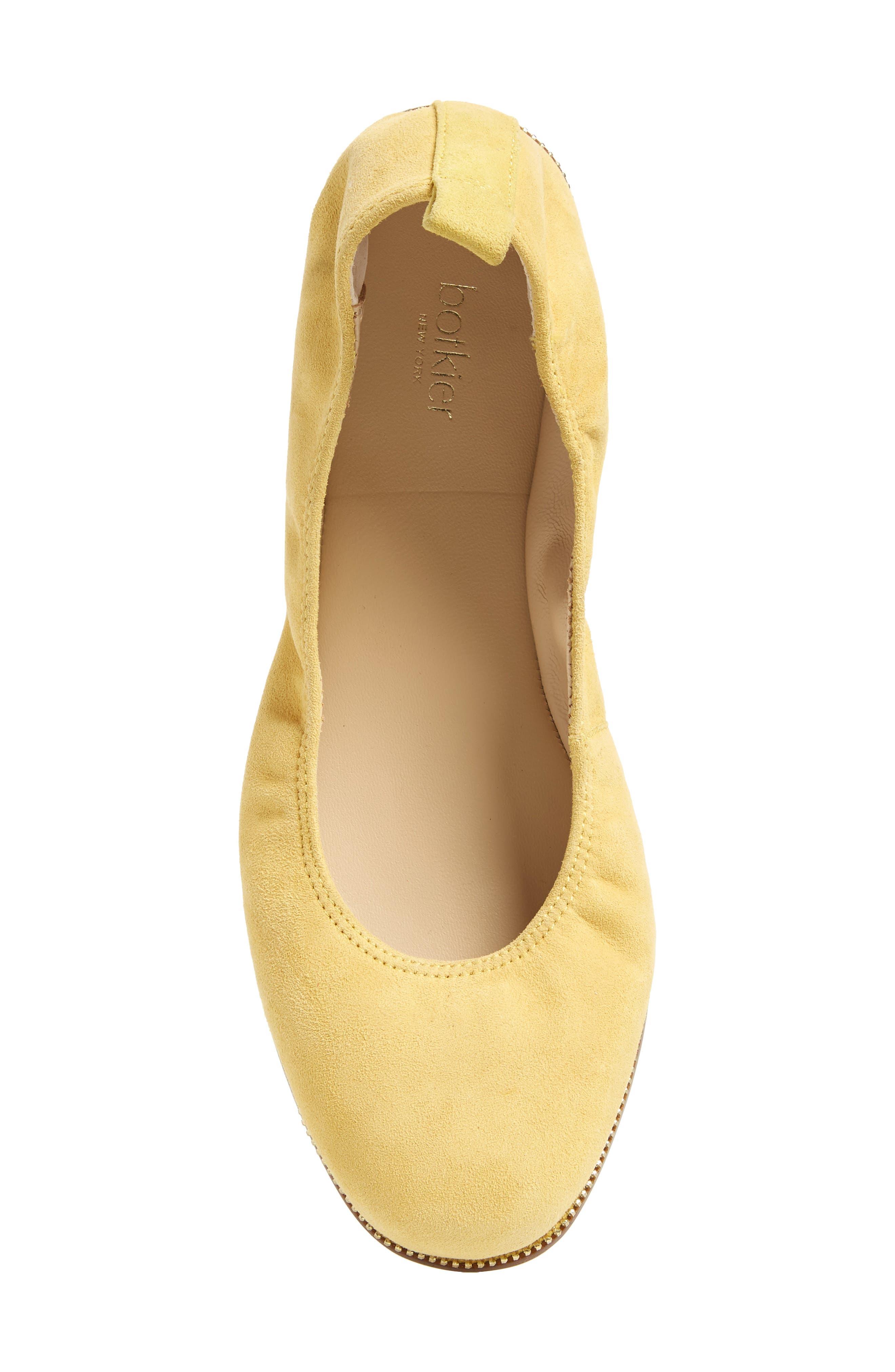 Mason Ballet Flat,                             Alternate thumbnail 4, color,                             Pineapple Suede