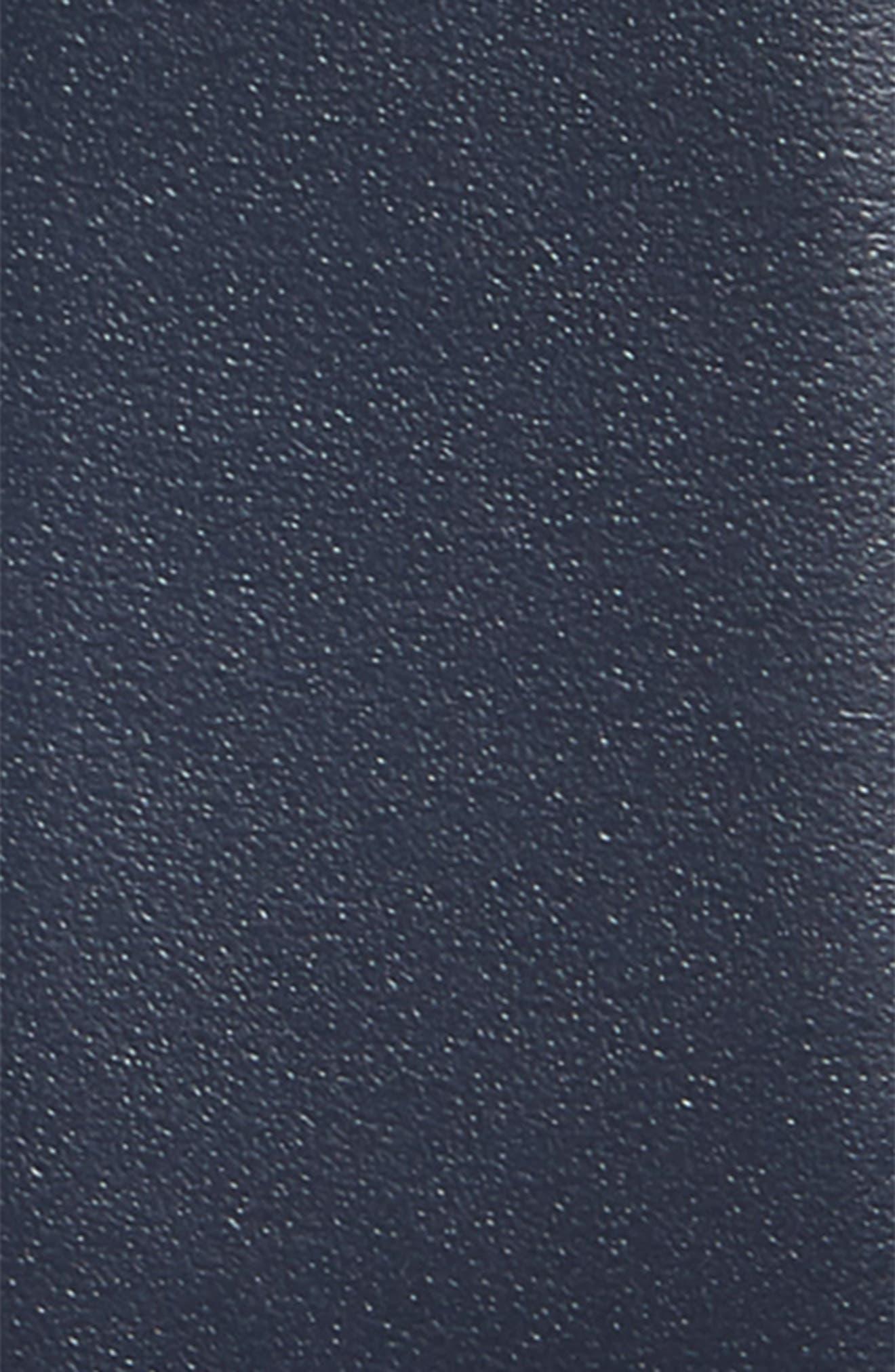 Double Gancio Reversible Leather Belt,                             Alternate thumbnail 3, color,                             Blue Marine/ Black