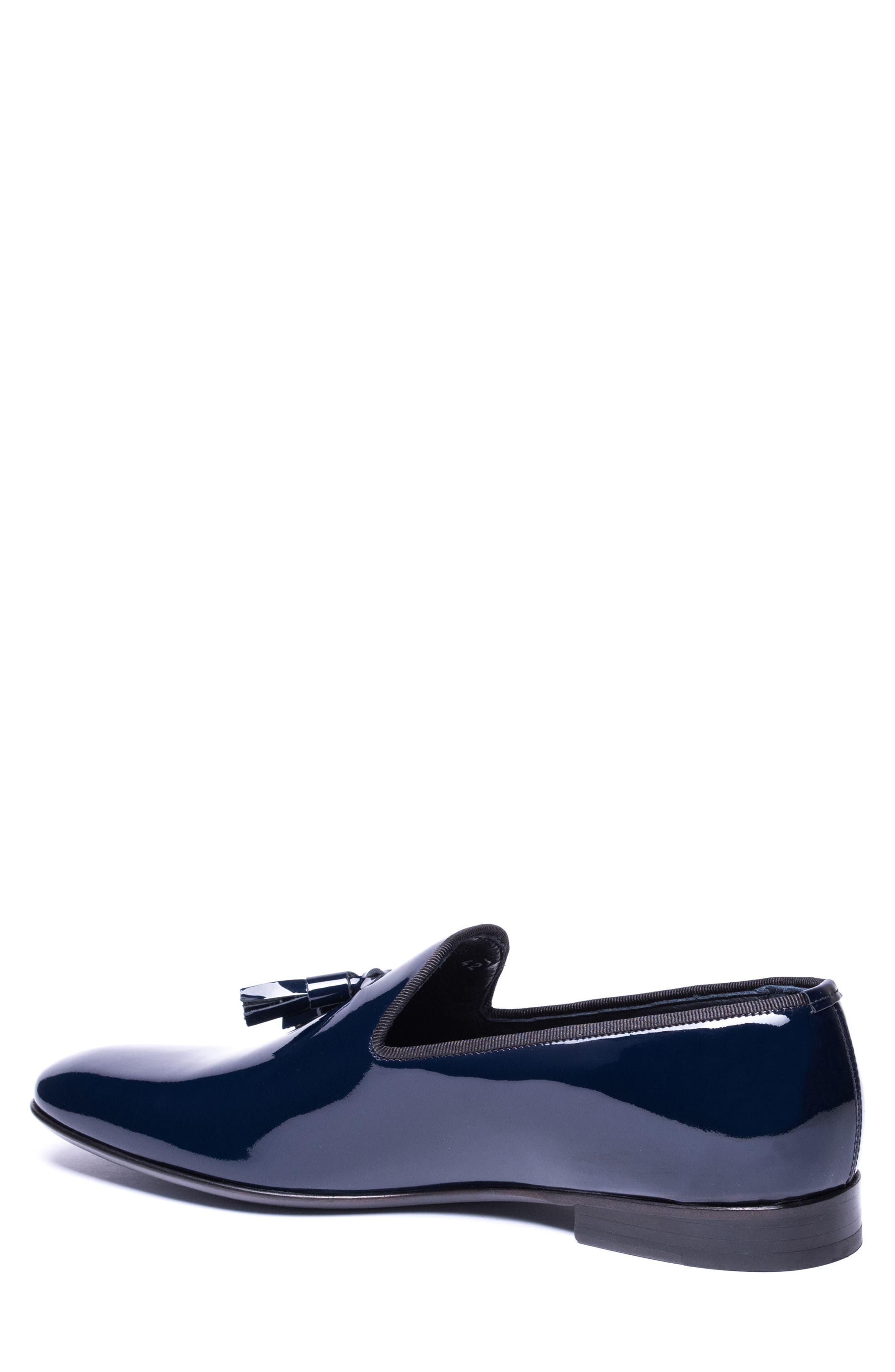 Enzo Tasseled Venetian Loafer,                             Alternate thumbnail 2, color,                             Navy Leather