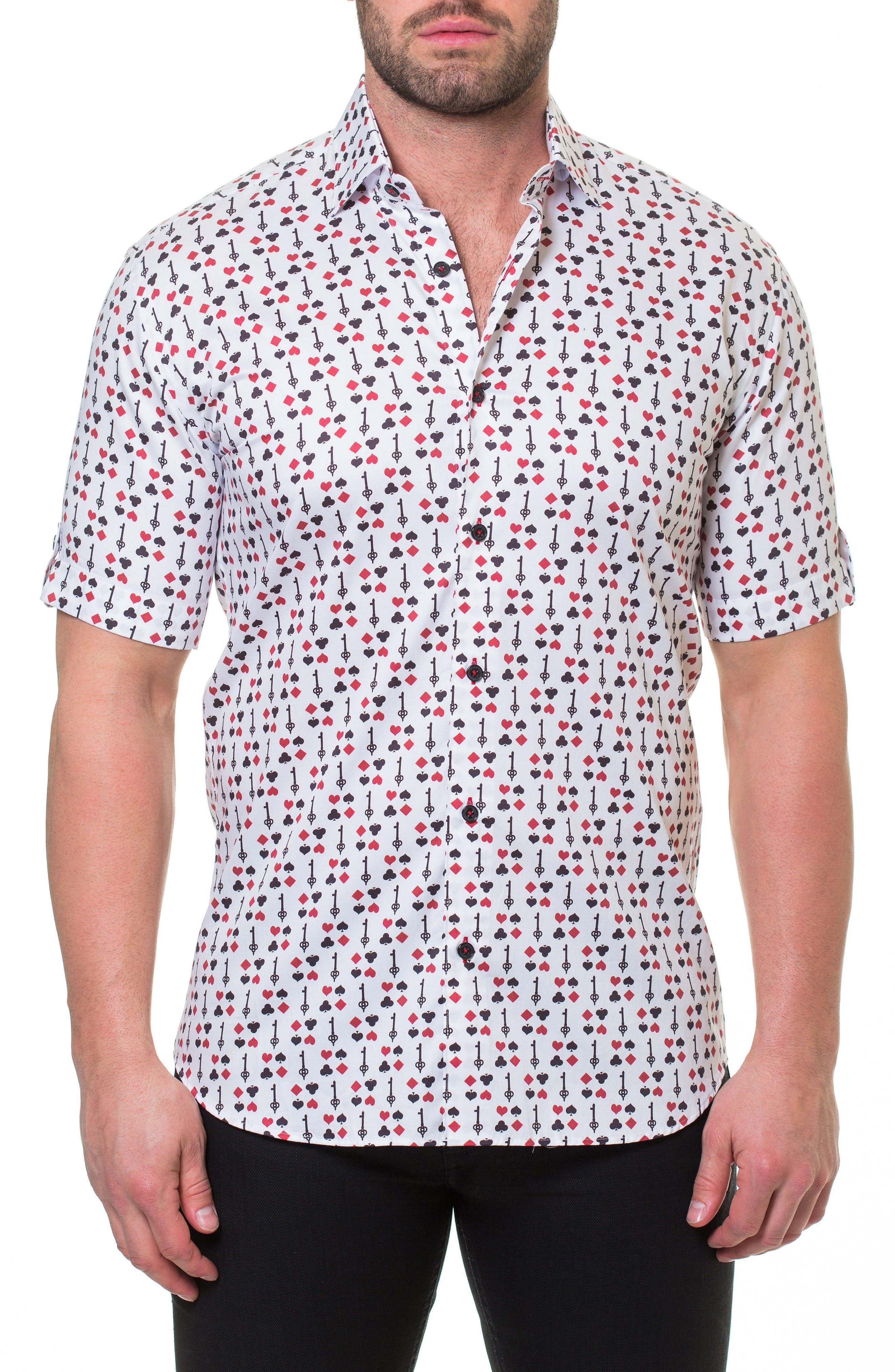 Fresh BlackJack Slim Fit Sport Shirt,                             Main thumbnail 1, color,                             White