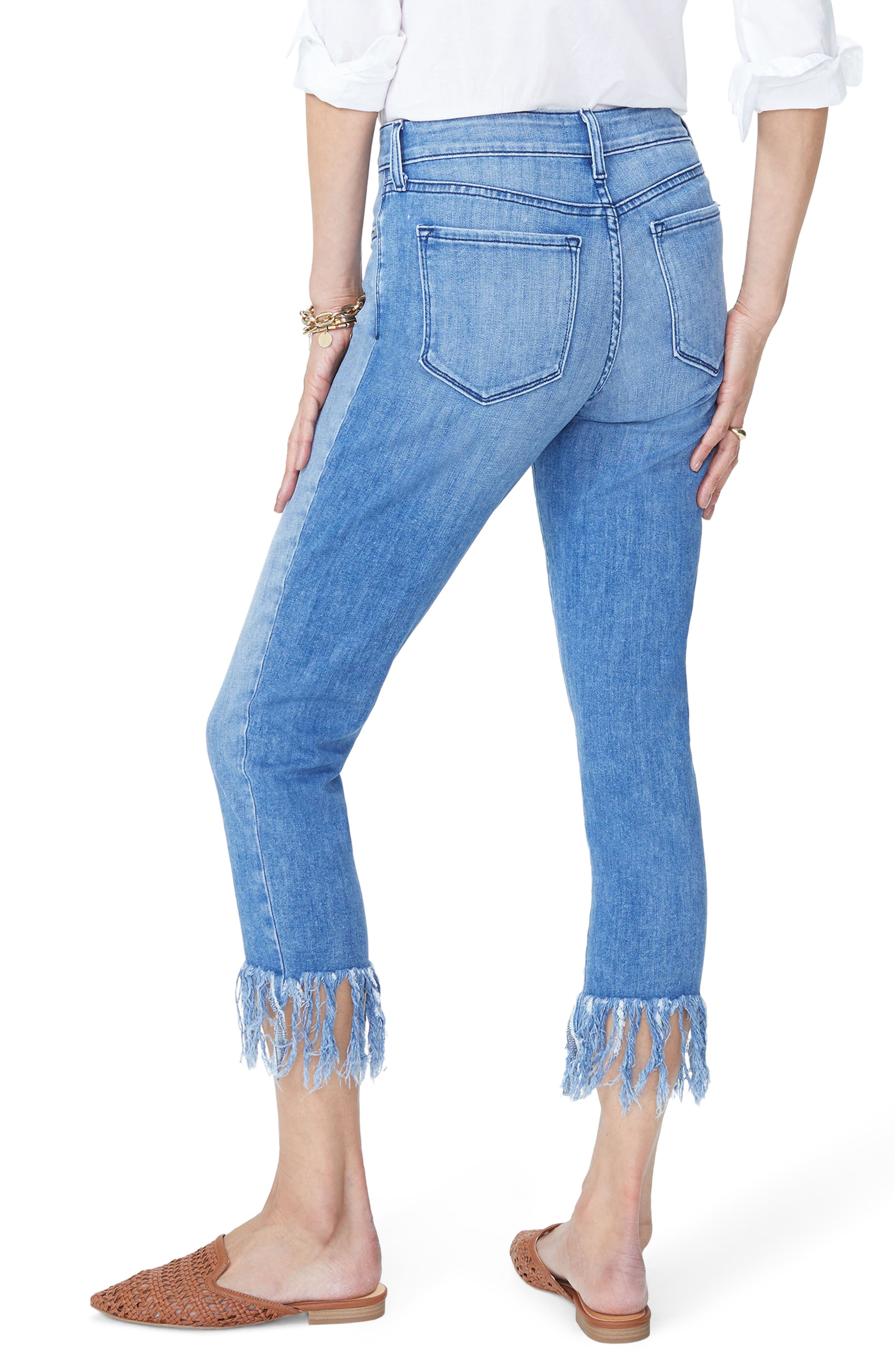 Ami Long Fray Skinny Stretch Ankle Jeans,                             Alternate thumbnail 3, color,                             Capitola