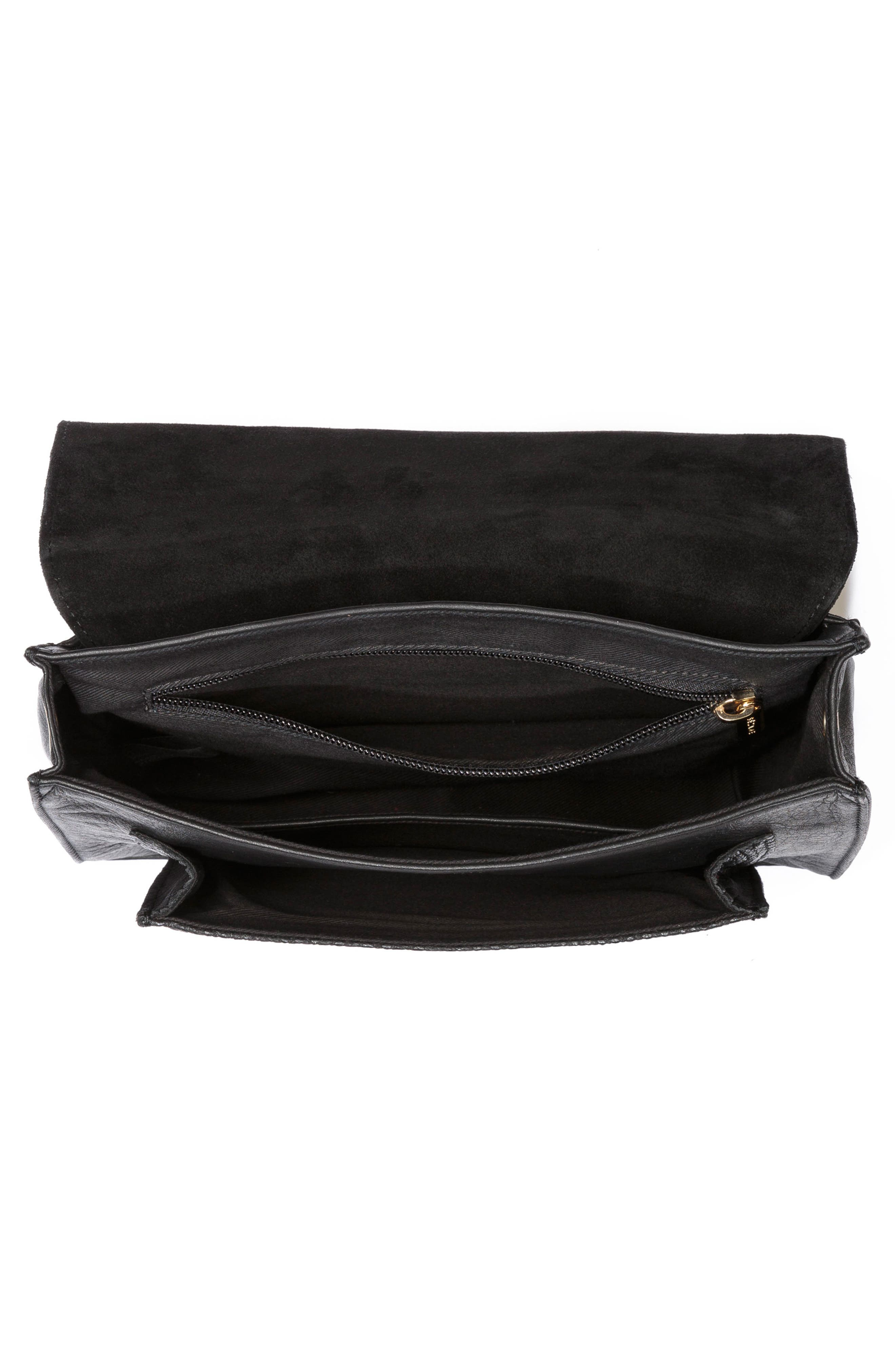 Tiger Crossbody Bag,                             Alternate thumbnail 4, color,                             Black
