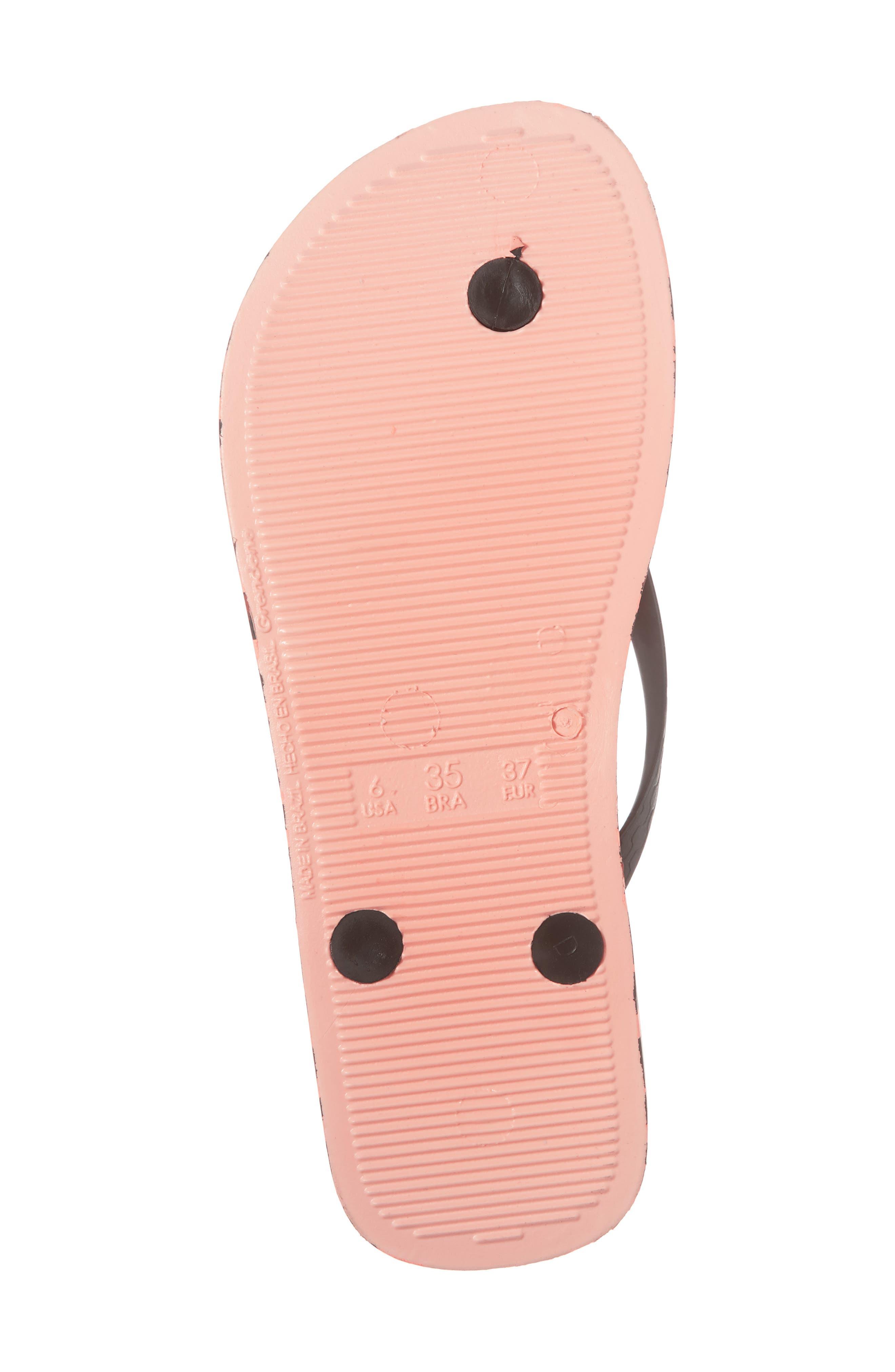Wild Flip Flop,                             Alternate thumbnail 6, color,                             Pink/ Black