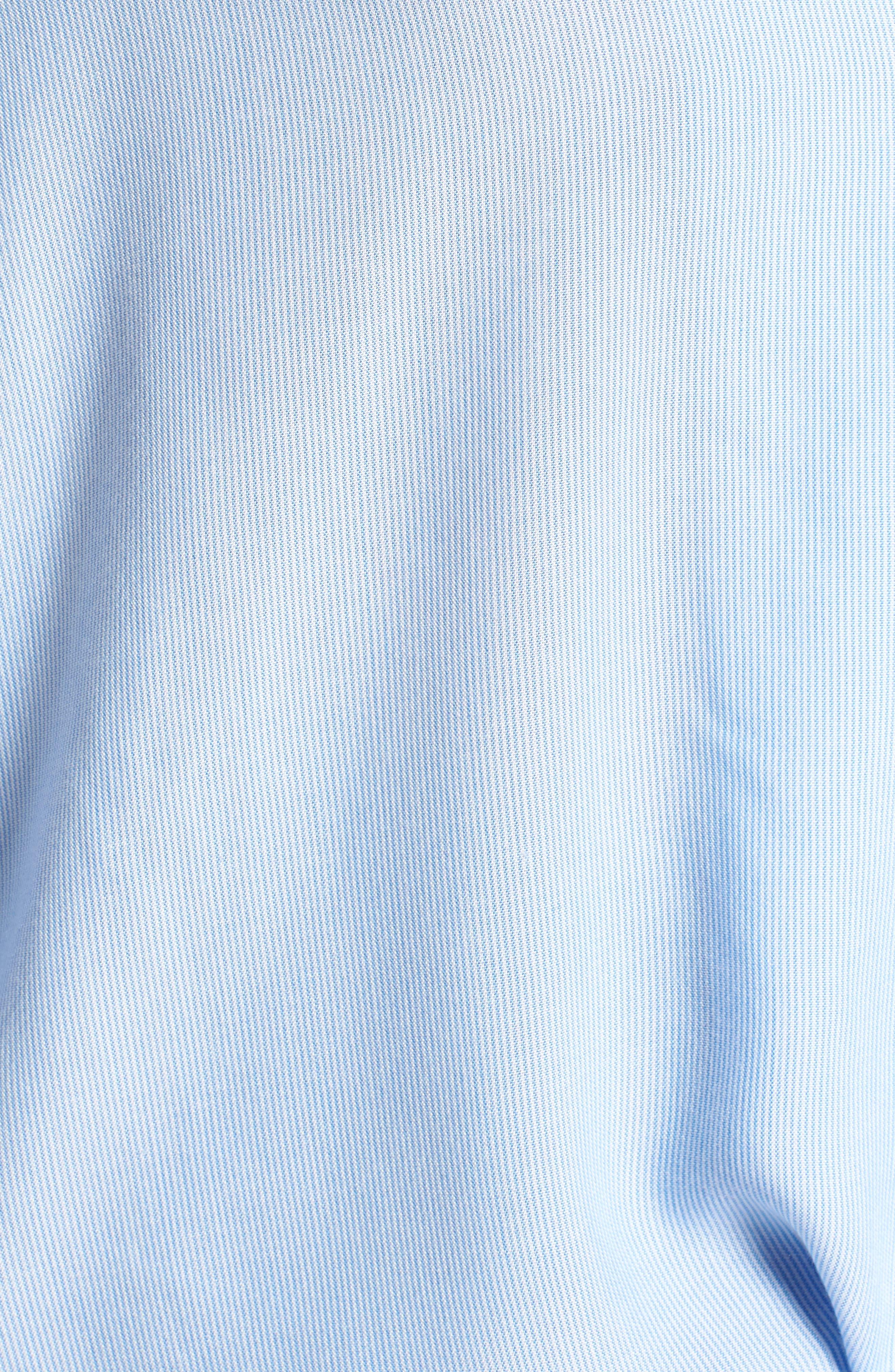 Tie Front Shirt,                             Alternate thumbnail 6, color,                             Blue Lake Micro Stripe