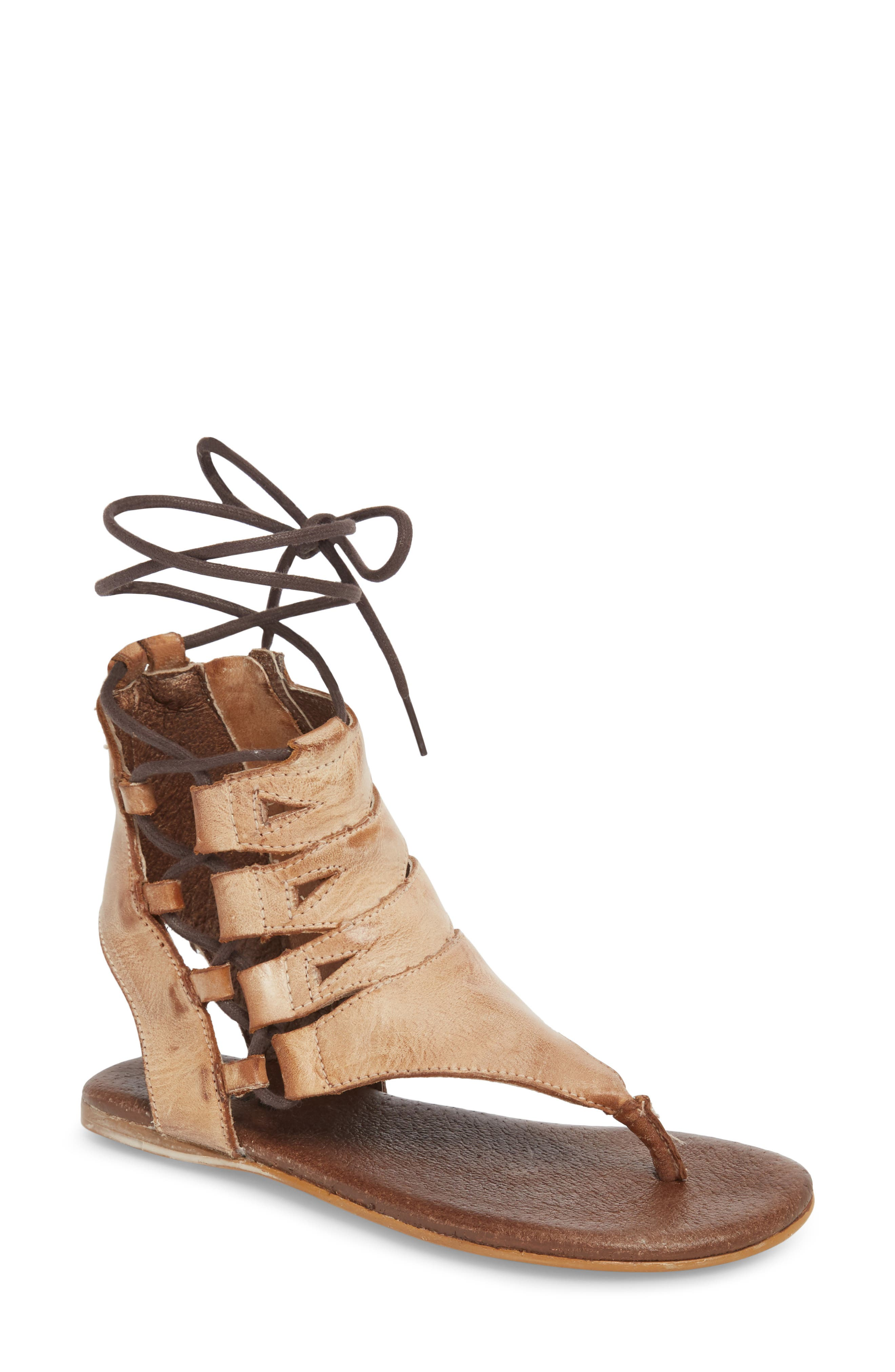 Rosalinda Tall Sandal,                         Main,                         color, Cognac