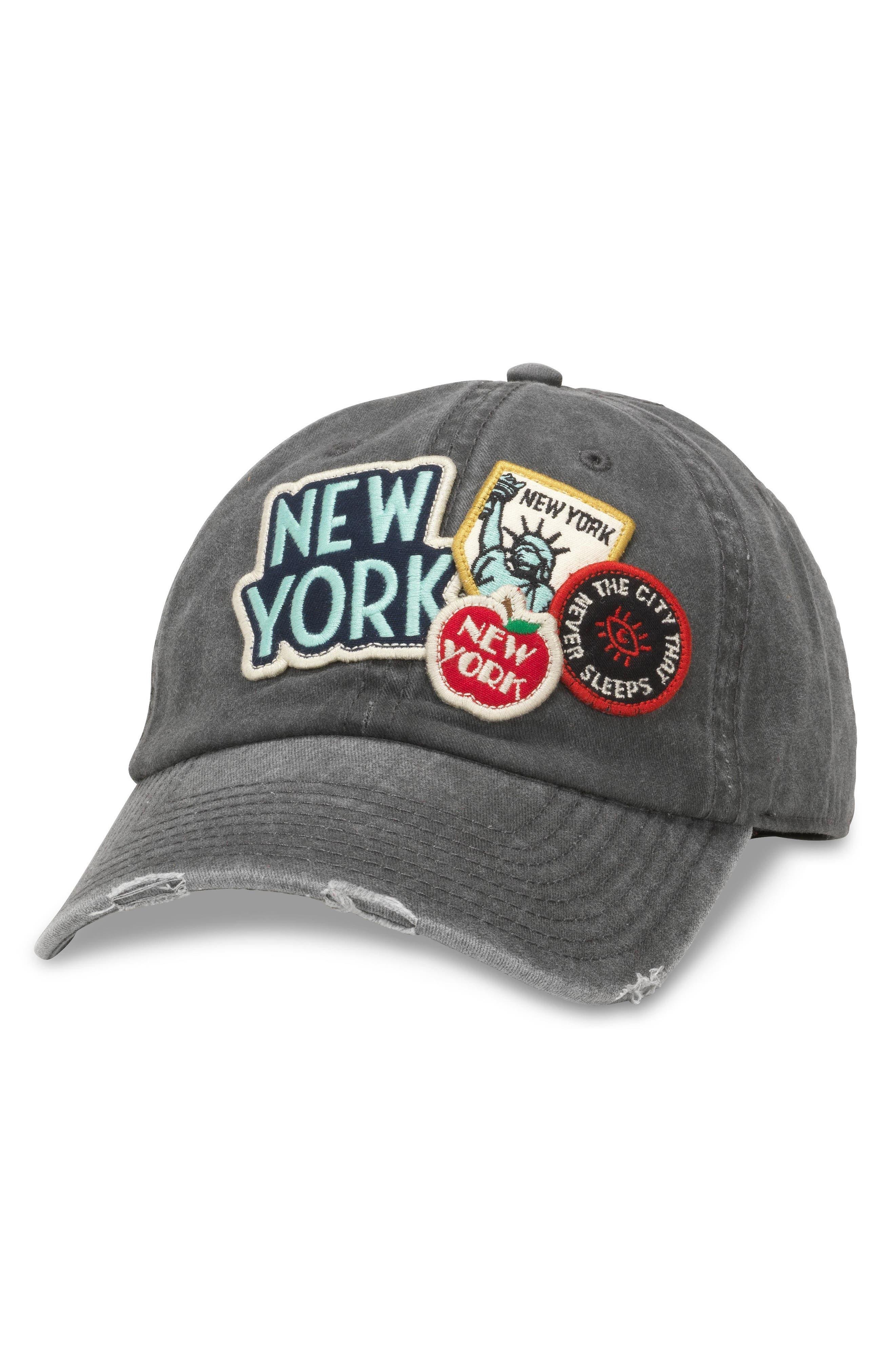 Iconic - New York Ball Cap,                             Main thumbnail 1, color,                             Grey