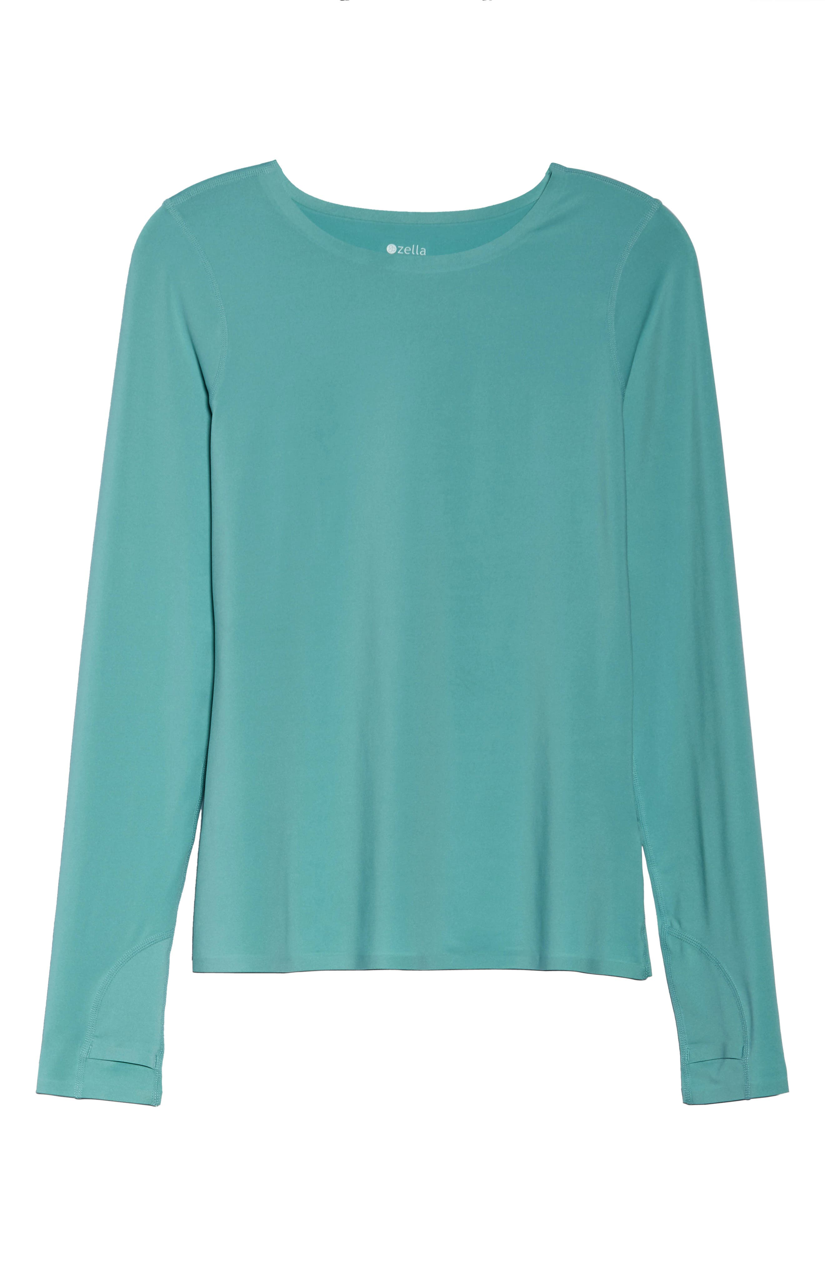 Realized Long Sleeve Tee,                             Alternate thumbnail 7, color,                             Teal Aquifer