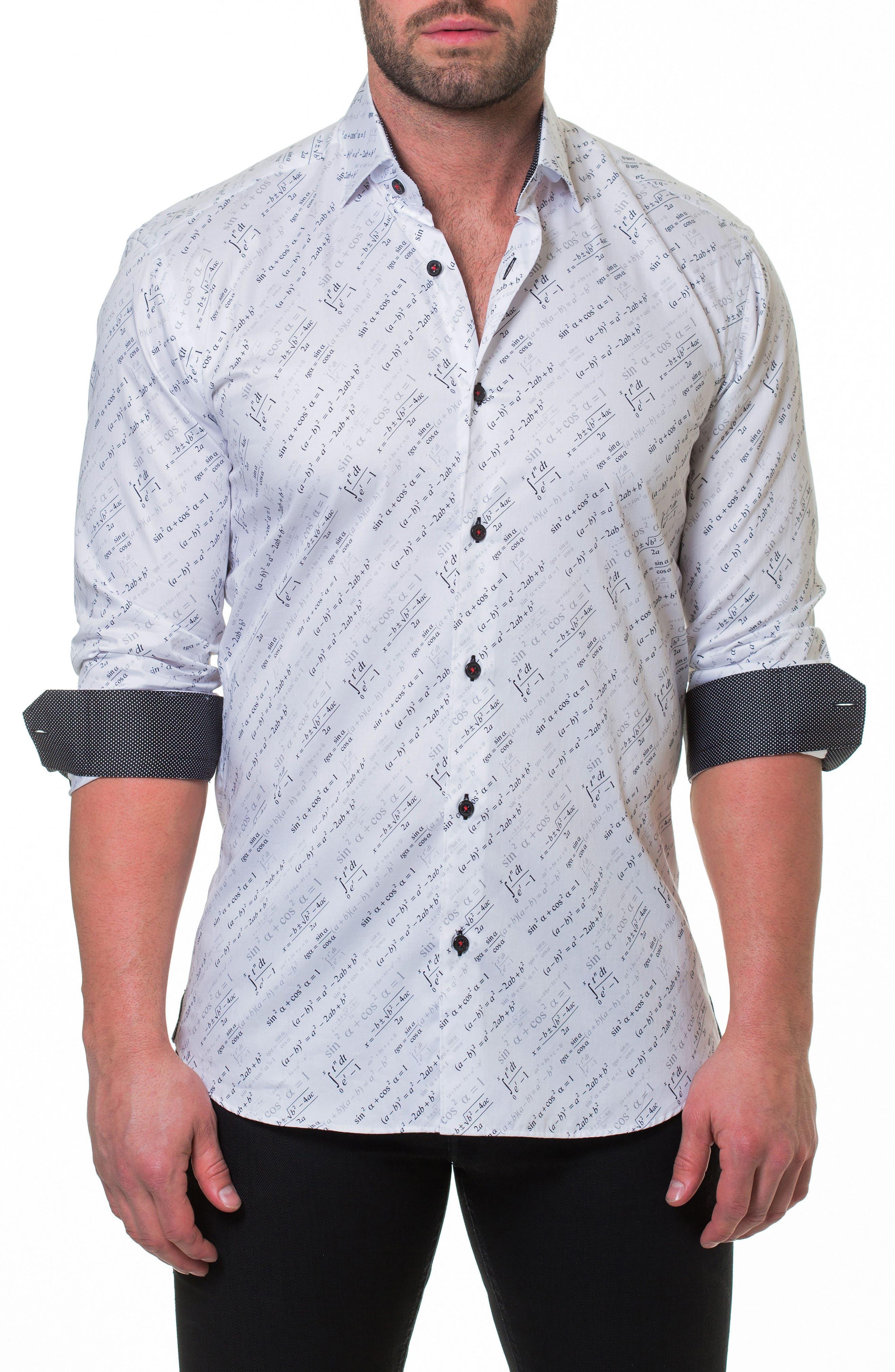 Luxor Trig Slim Fit Sport Shirt,                             Main thumbnail 1, color,                             White