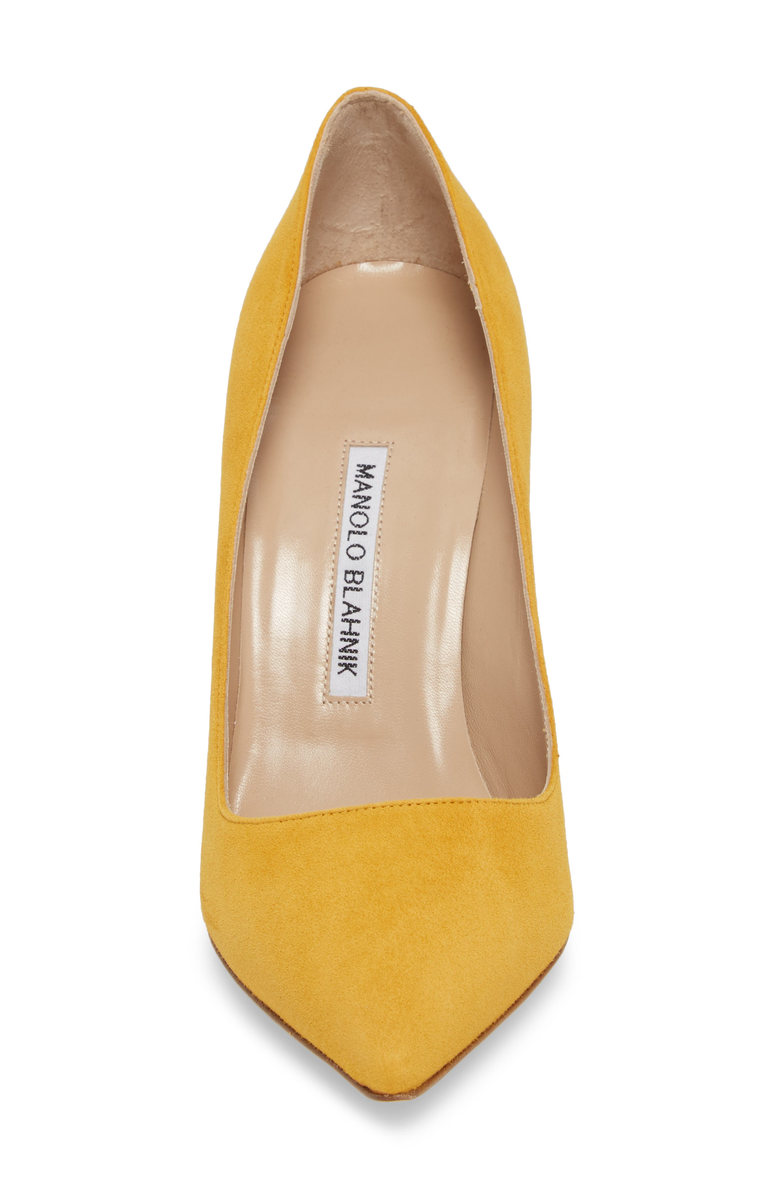 'BB' Pointy Toe Pump,                             Alternate thumbnail 4, color,                             Arbor Yellow
