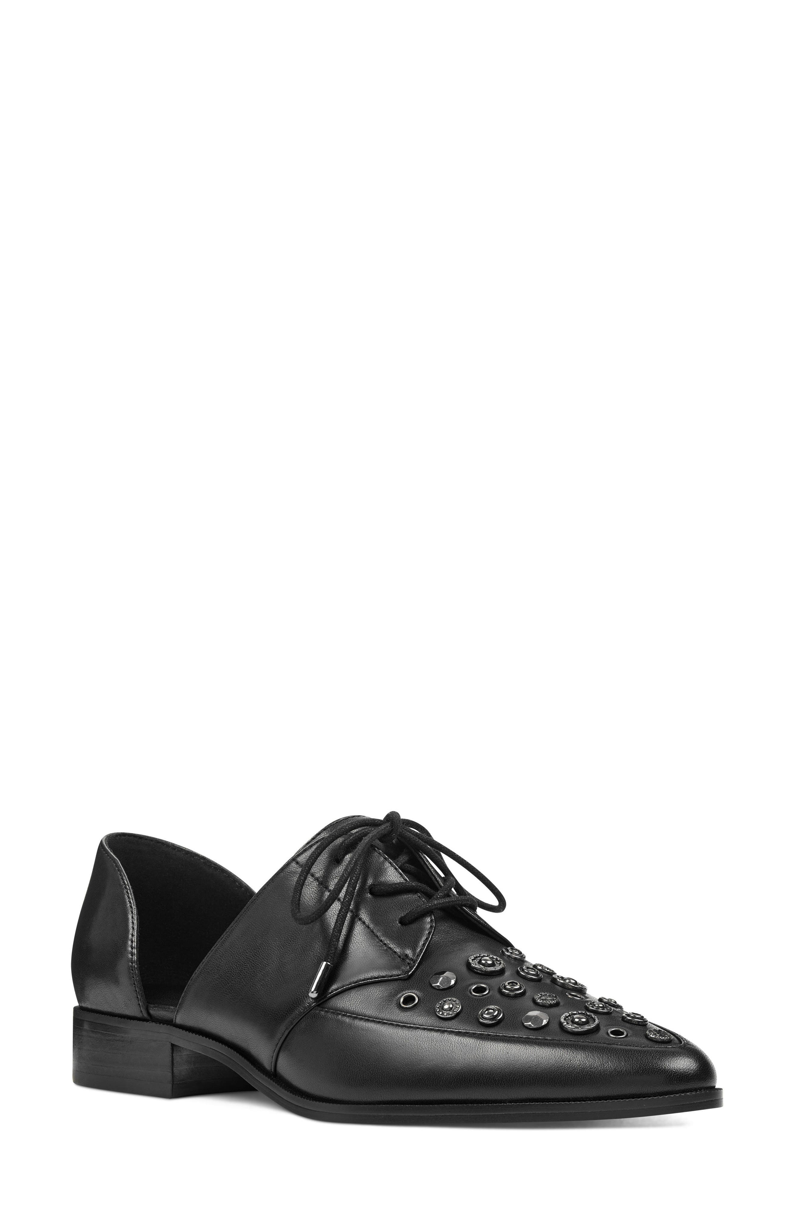 Woahalle Flat,                         Main,                         color, Black Leather