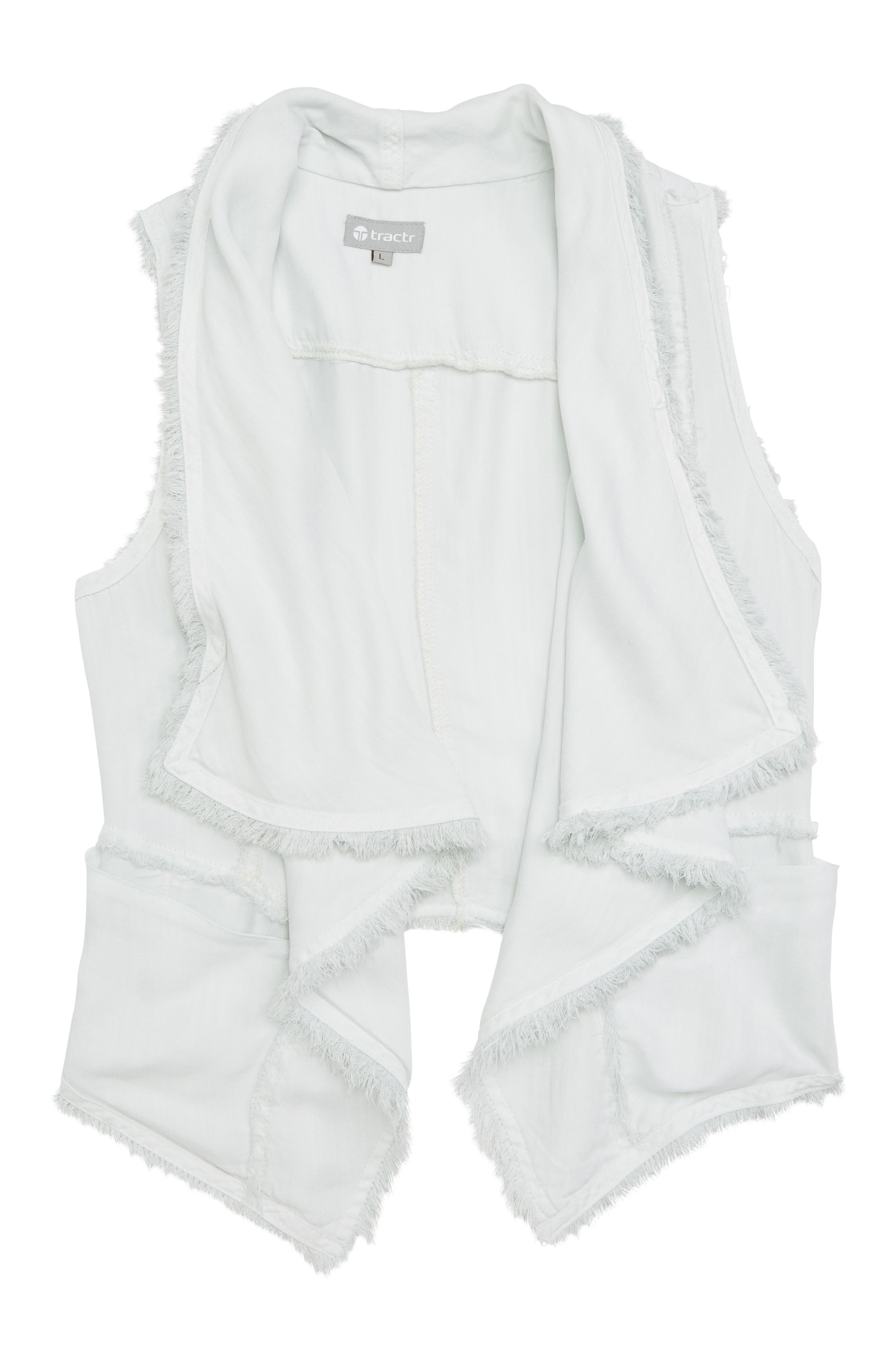 Tractr Drape Front Vest (Big Girls)