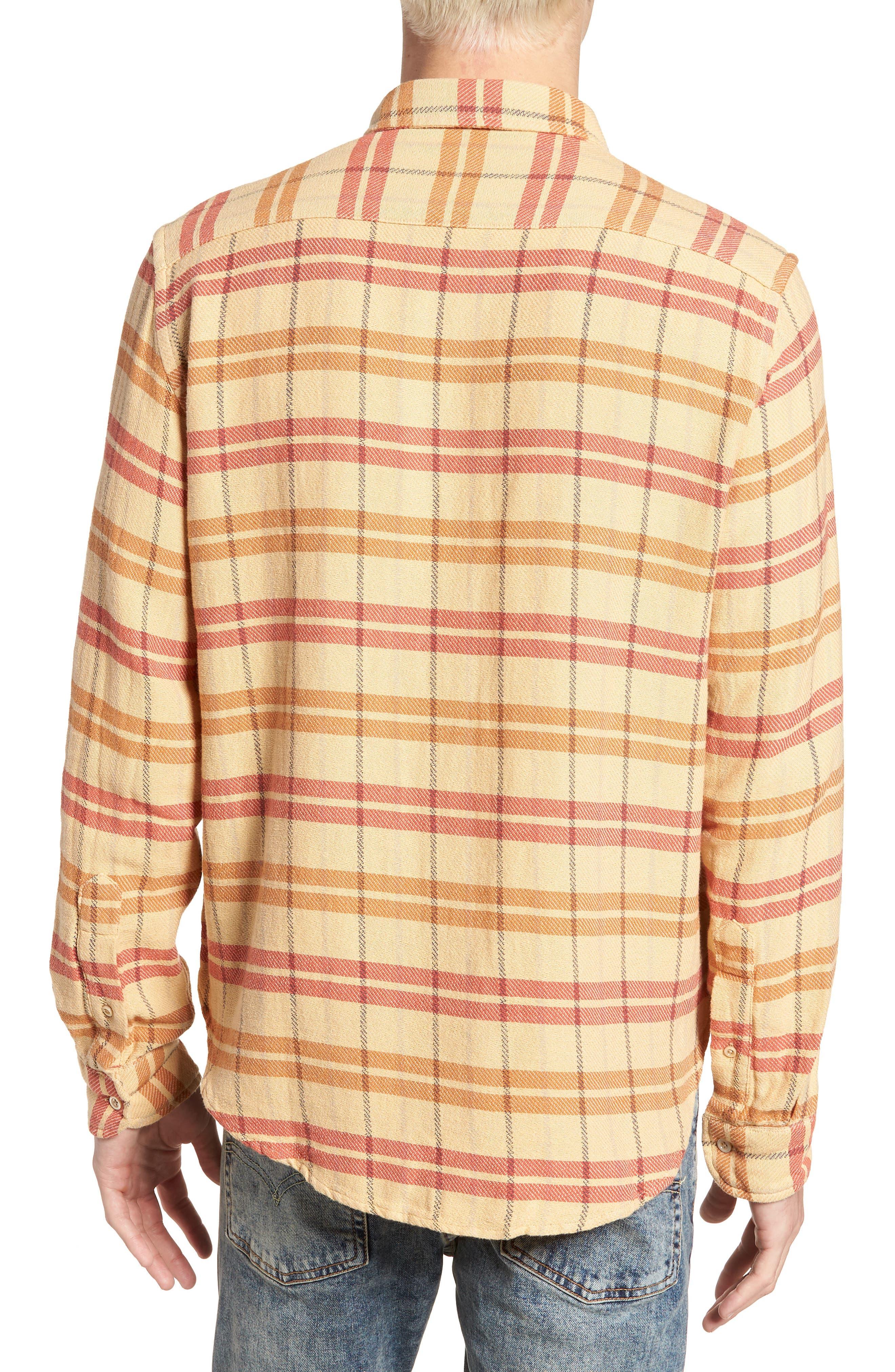 Shorthorn Western Shirt,                             Alternate thumbnail 3, color,                             Sunfaded Orange