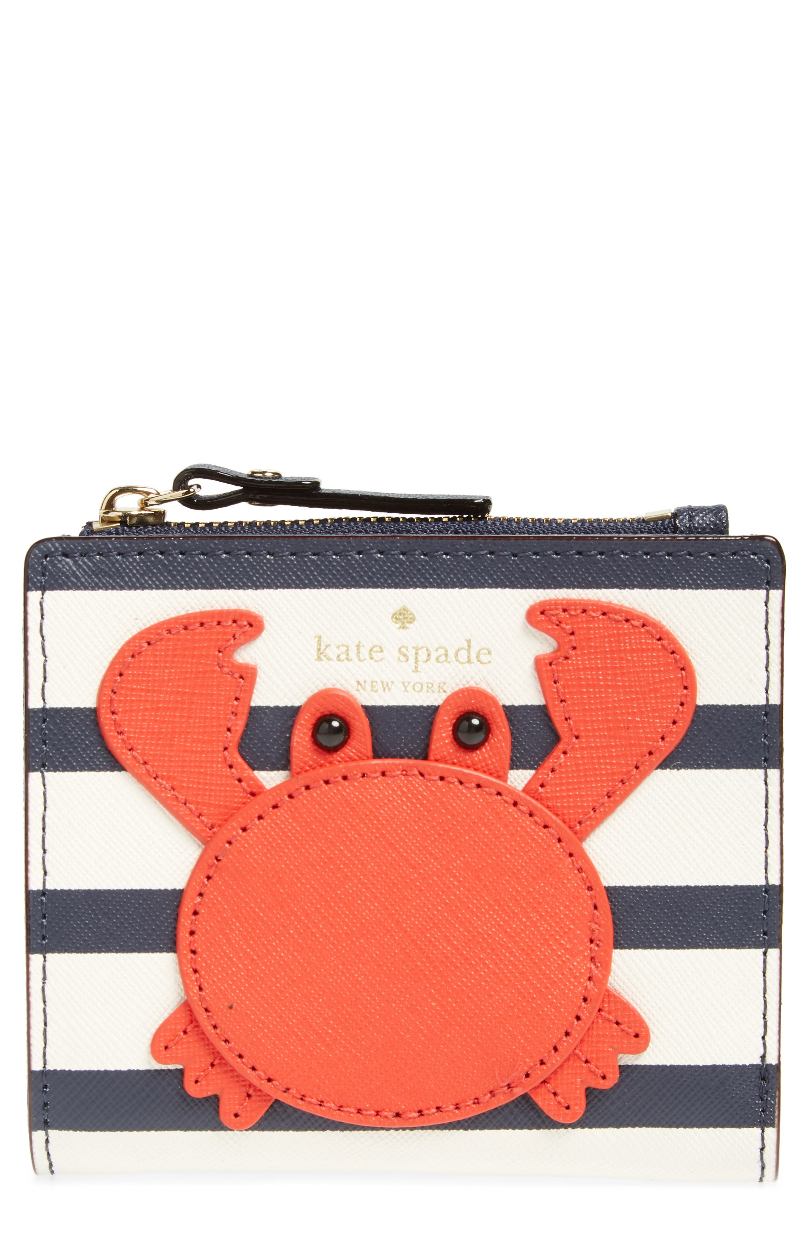 shore thing - stripe adalyn leather wallet,                         Main,                         color, Multi