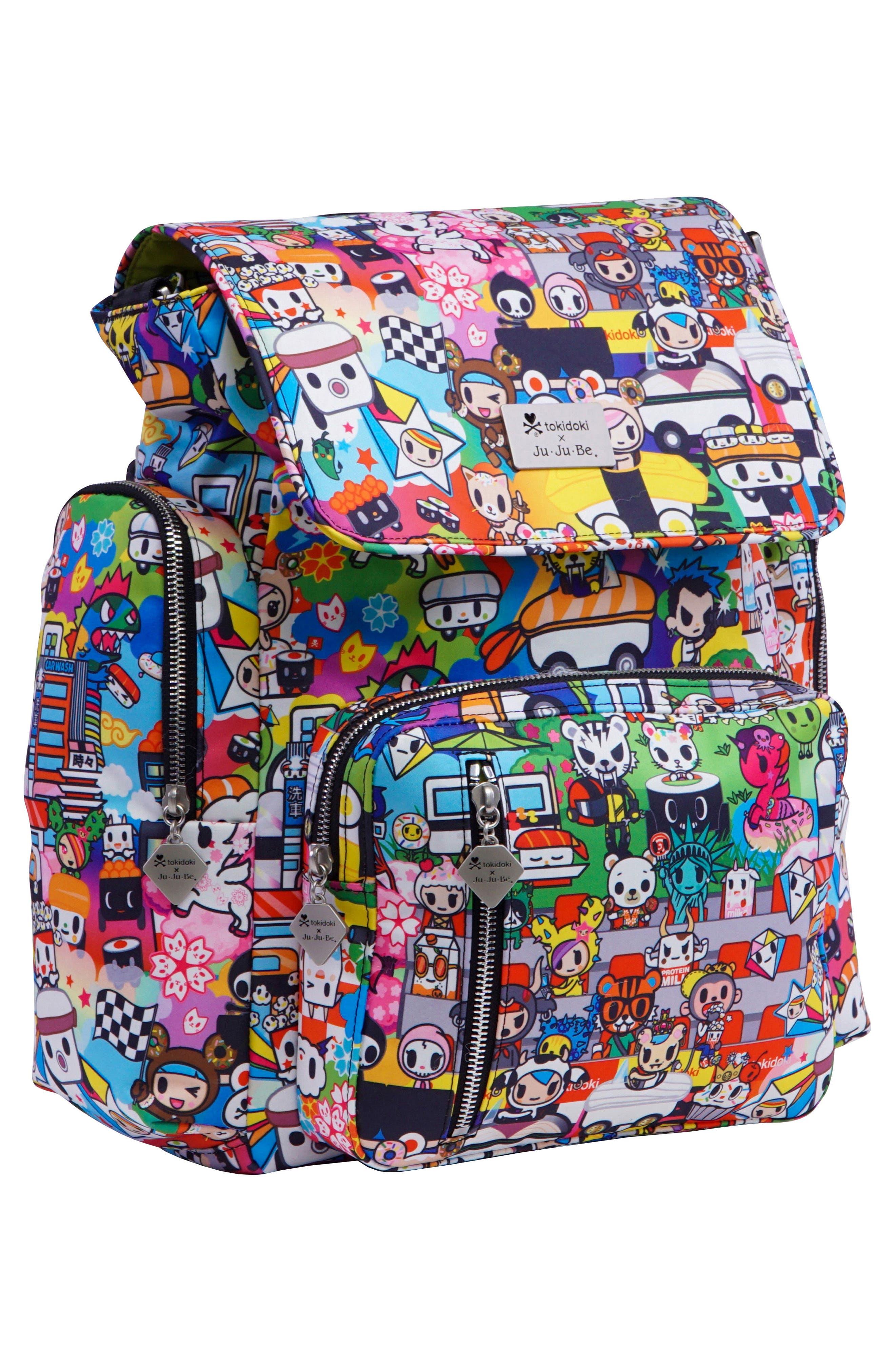 x tokidoki Be Sporty Diaper Backpack,                             Alternate thumbnail 2, color,                             Sushi Cars