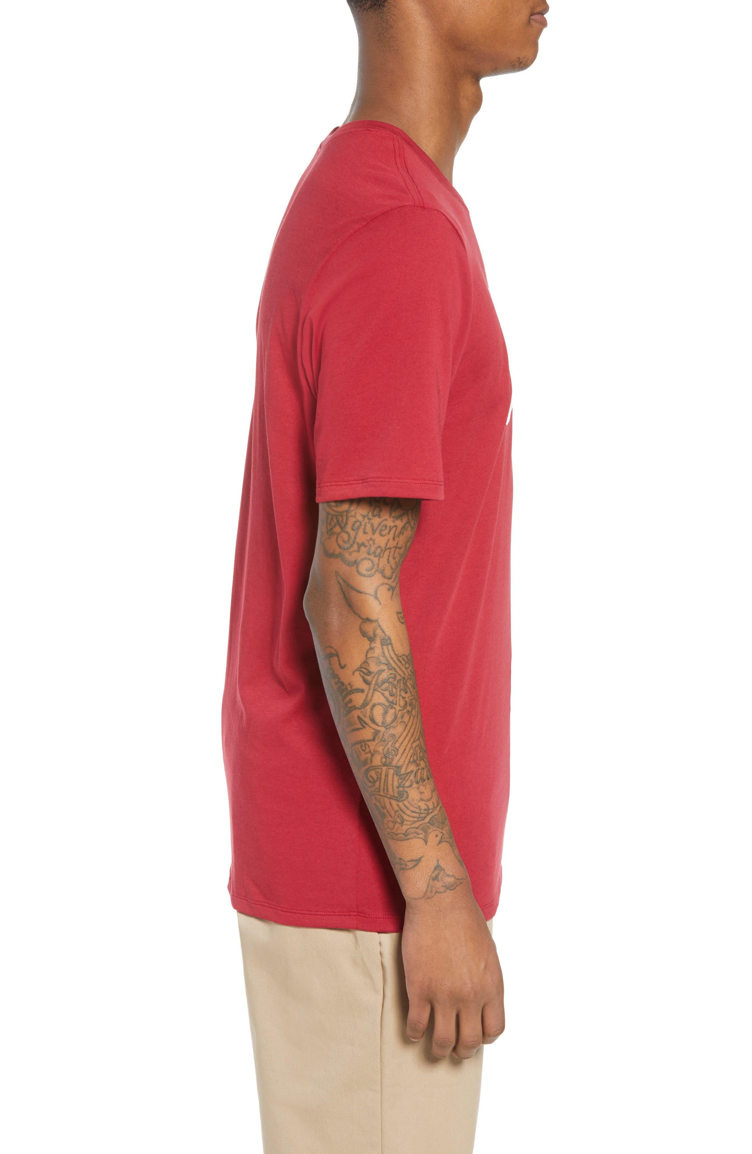 Nike 'SB Logo' T-Shirt,                             Alternate thumbnail 5, color,                             Red Crush White