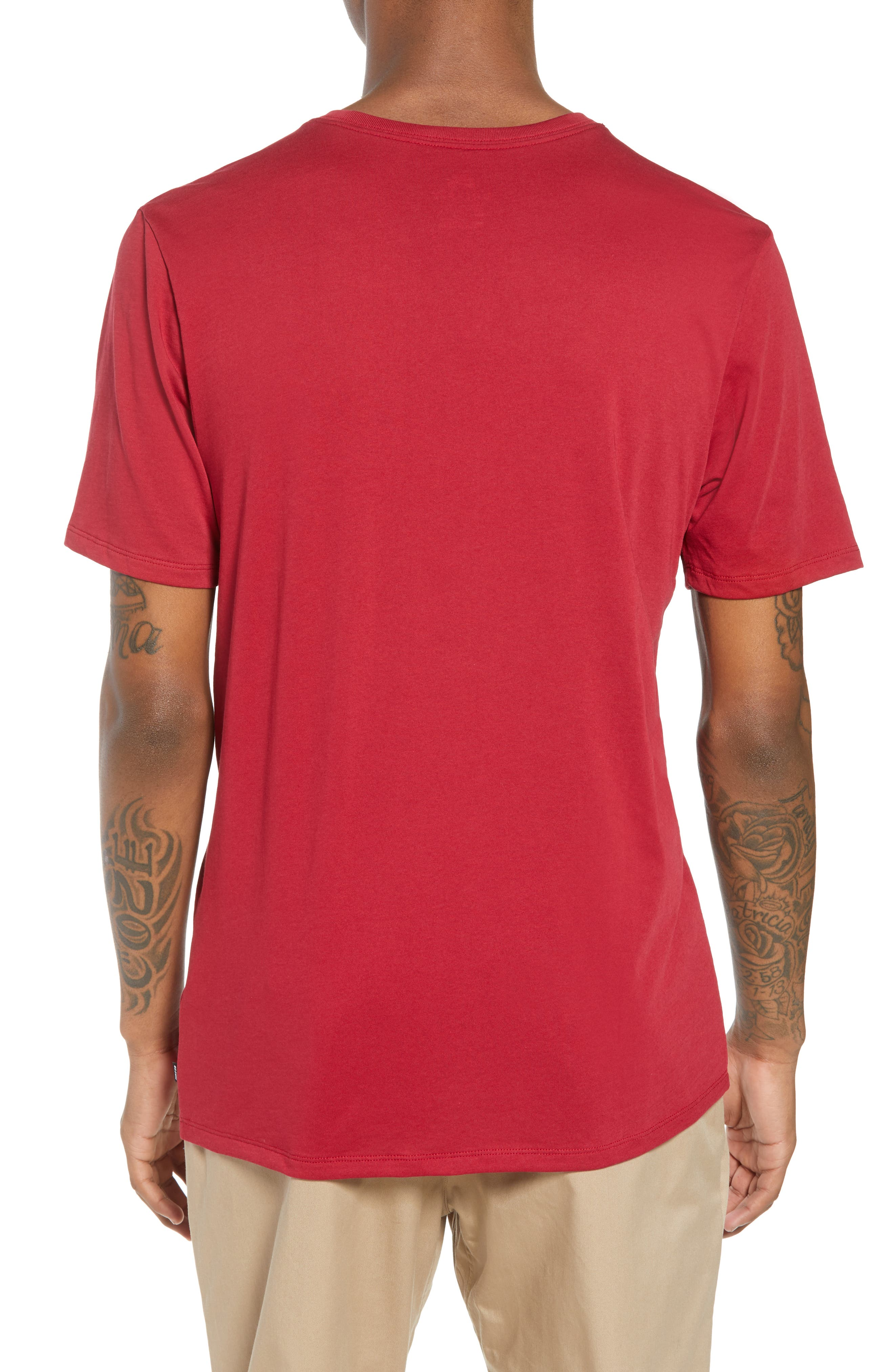 Nike 'SB Logo' T-Shirt,                             Alternate thumbnail 2, color,                             Red Crush White