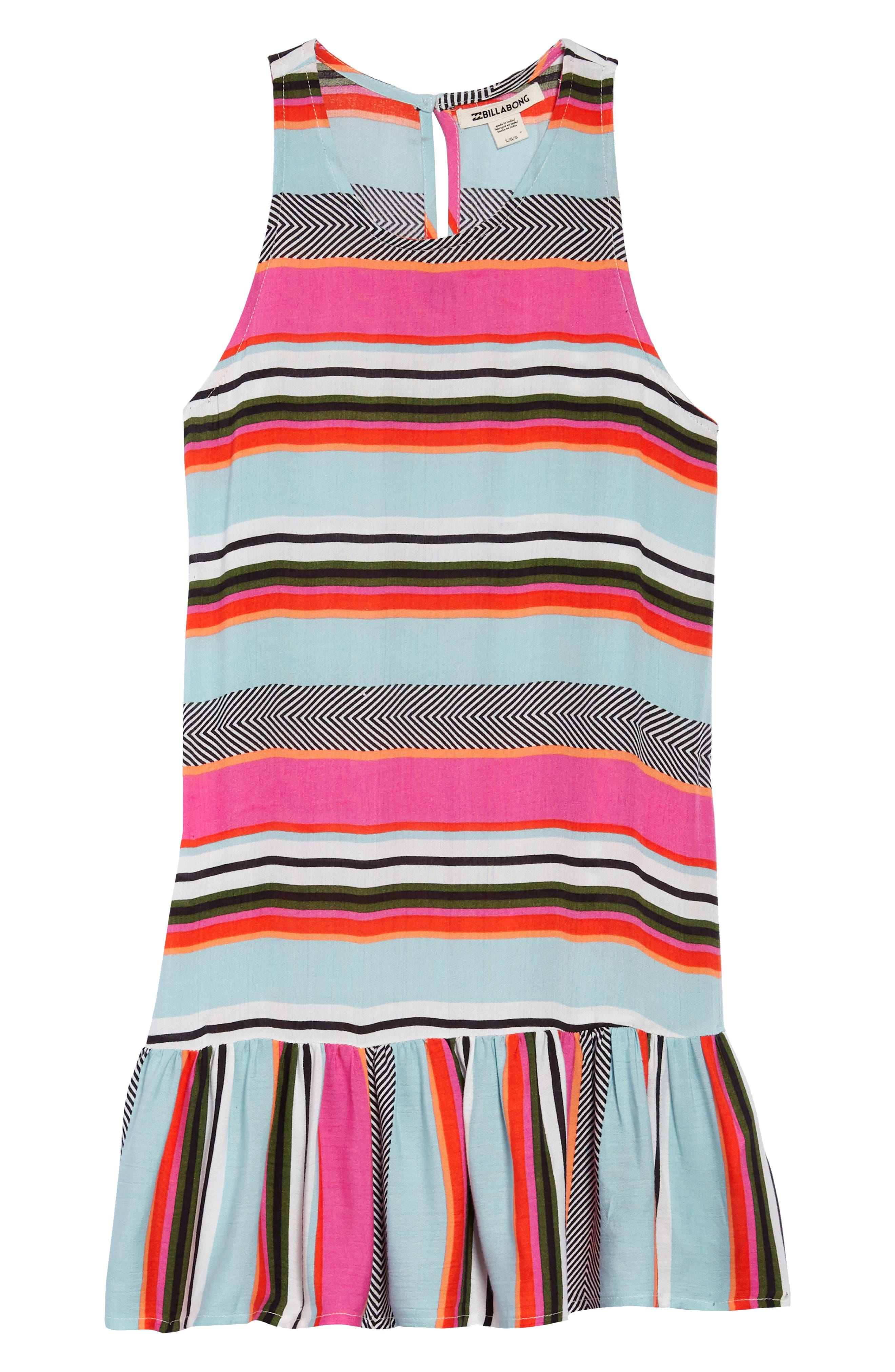 Universal Love Stripe Dress,                         Main,                         color, Beach Glass