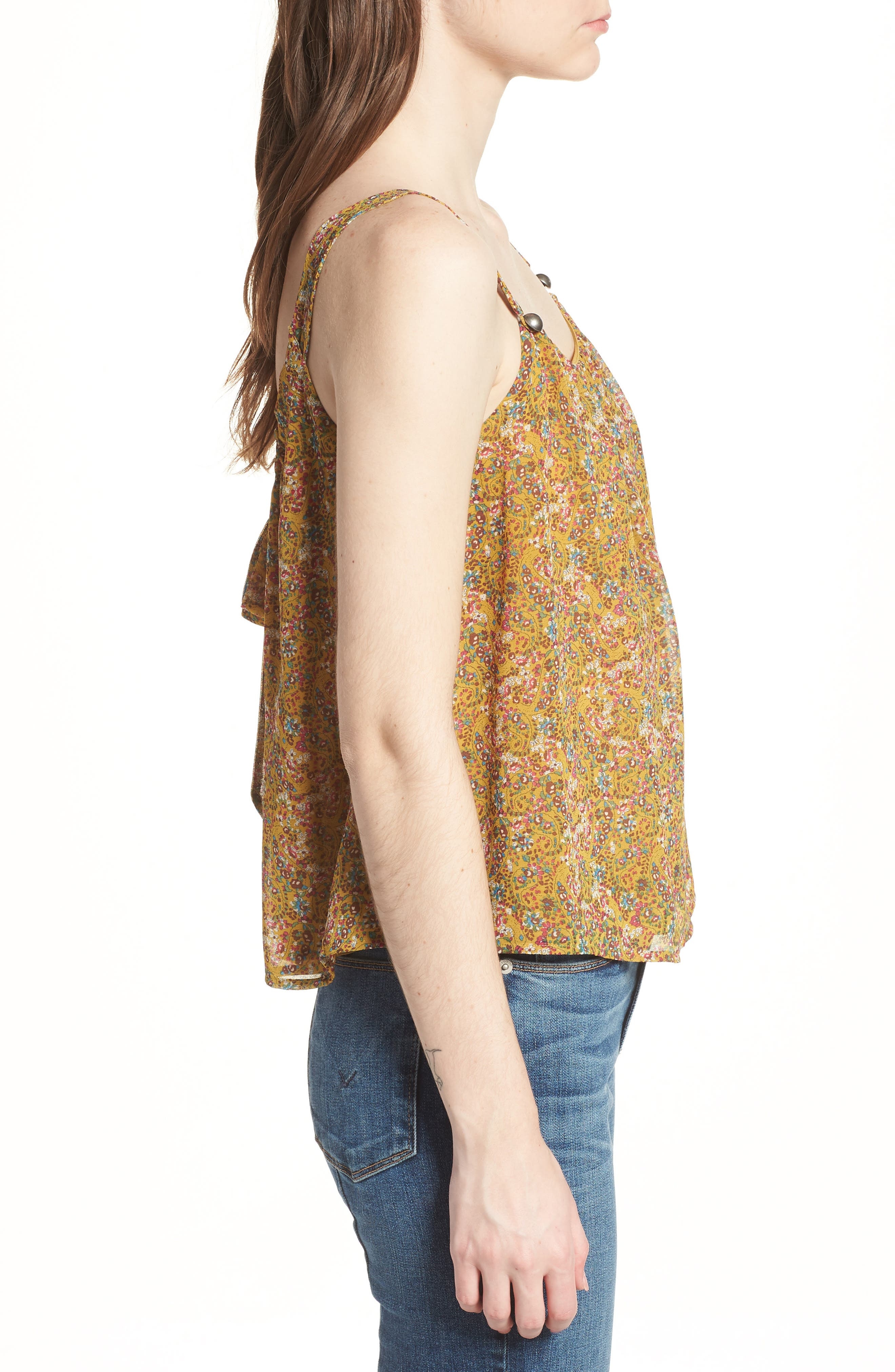 Madison Floral Top,                             Alternate thumbnail 3, color,                             Yellow Multi