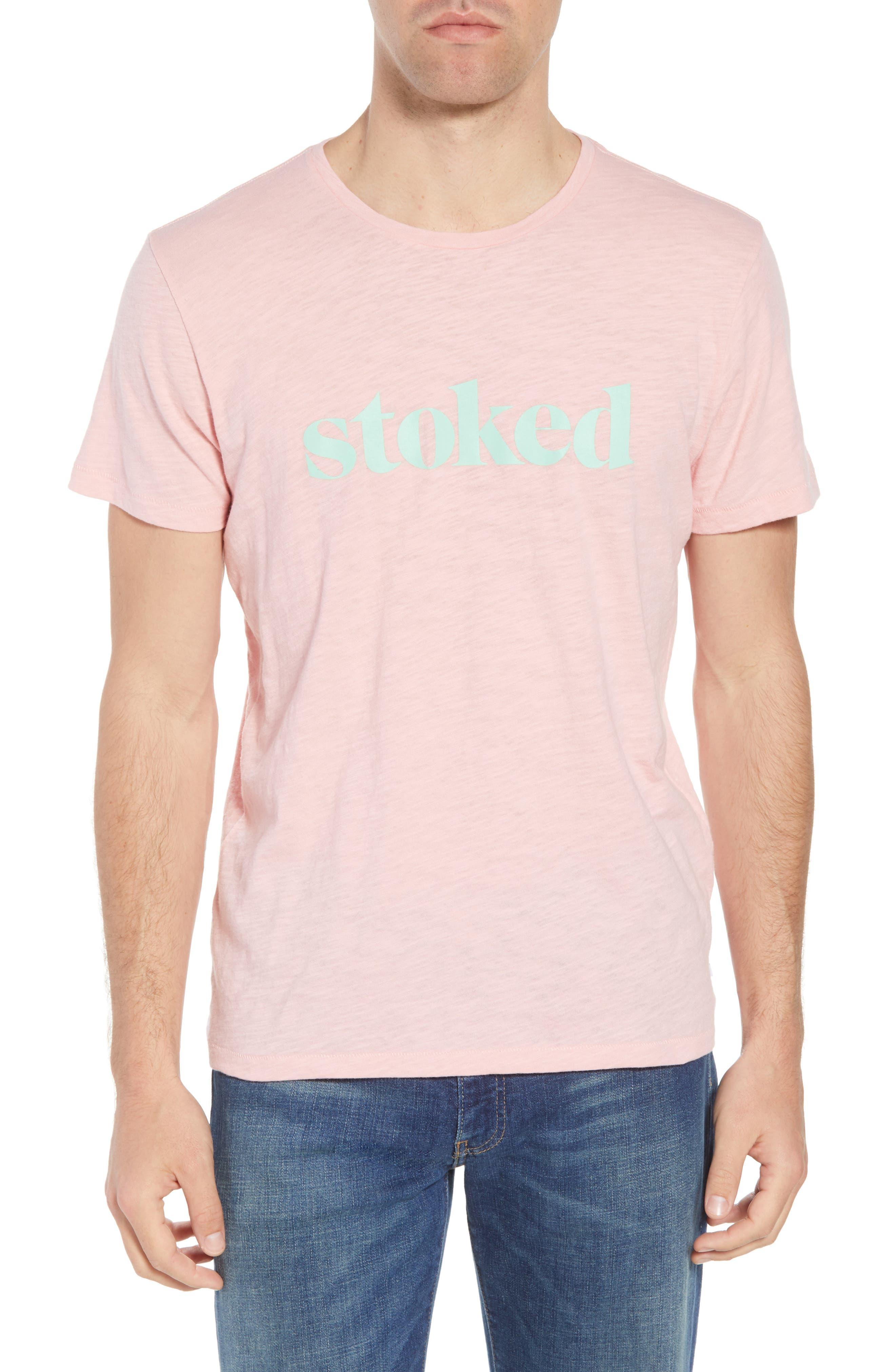 Stoked Slub T-Shirt,                         Main,                         color, Pink Stoked