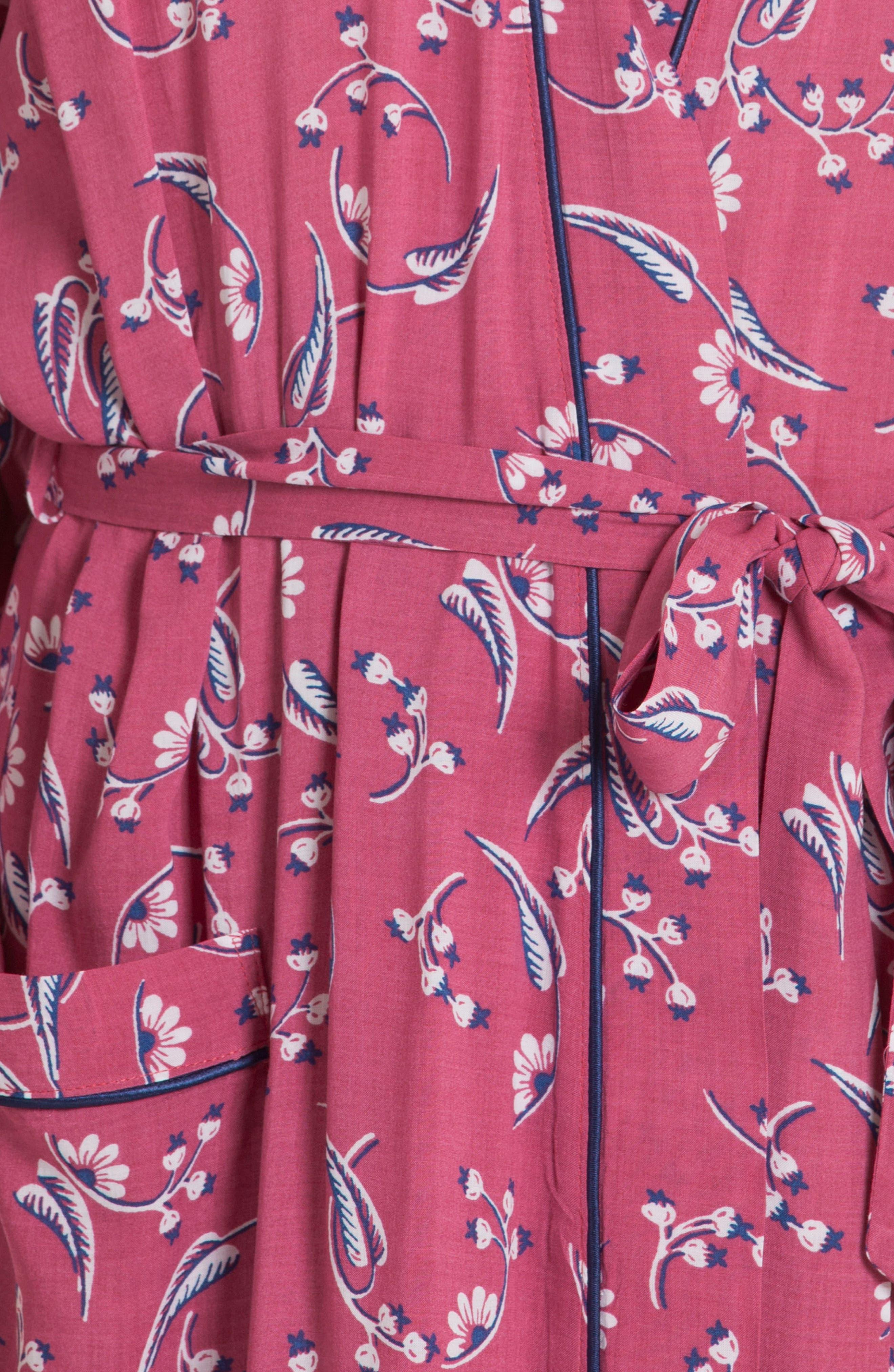 Short Robe,                             Alternate thumbnail 4, color,                             Cherry Print