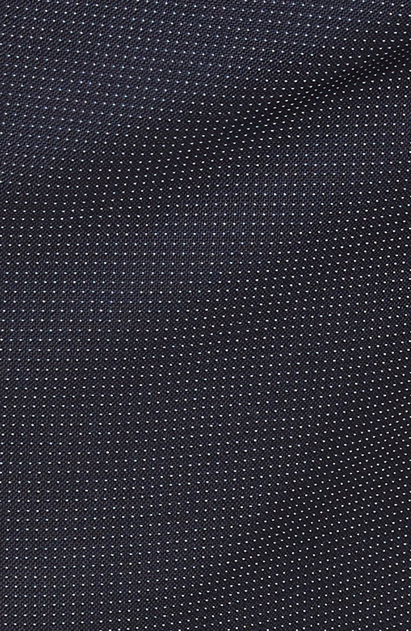 Parker Flat Front Pindot Wool Trousers,                             Alternate thumbnail 5, color,                             Navy