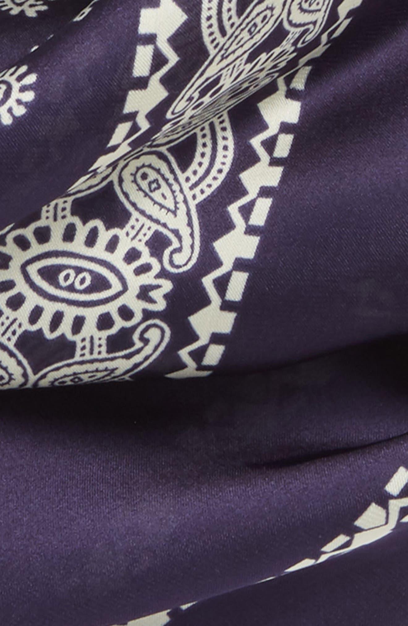 Paisley Handkerchief,                             Alternate thumbnail 3, color,                             Navy