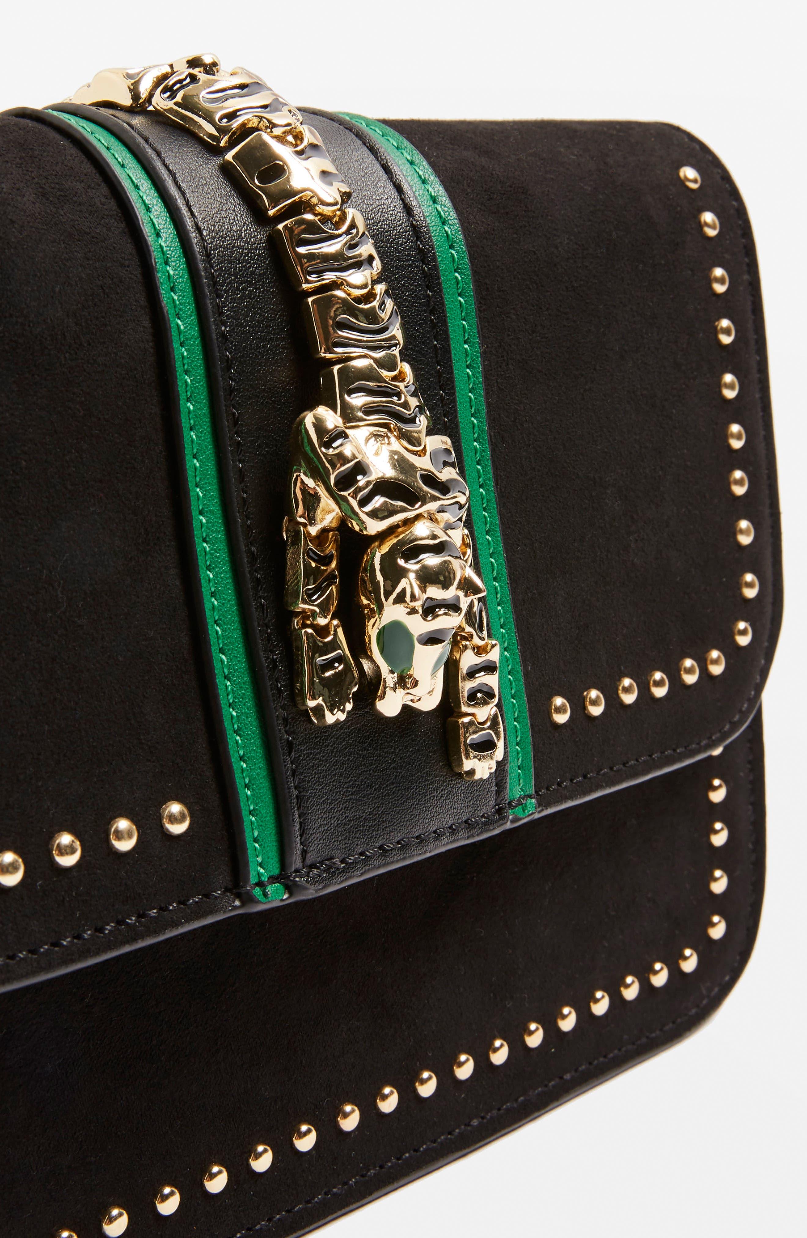 Tiger Crossbody Bag,                             Alternate thumbnail 4, color,                             Black Multi