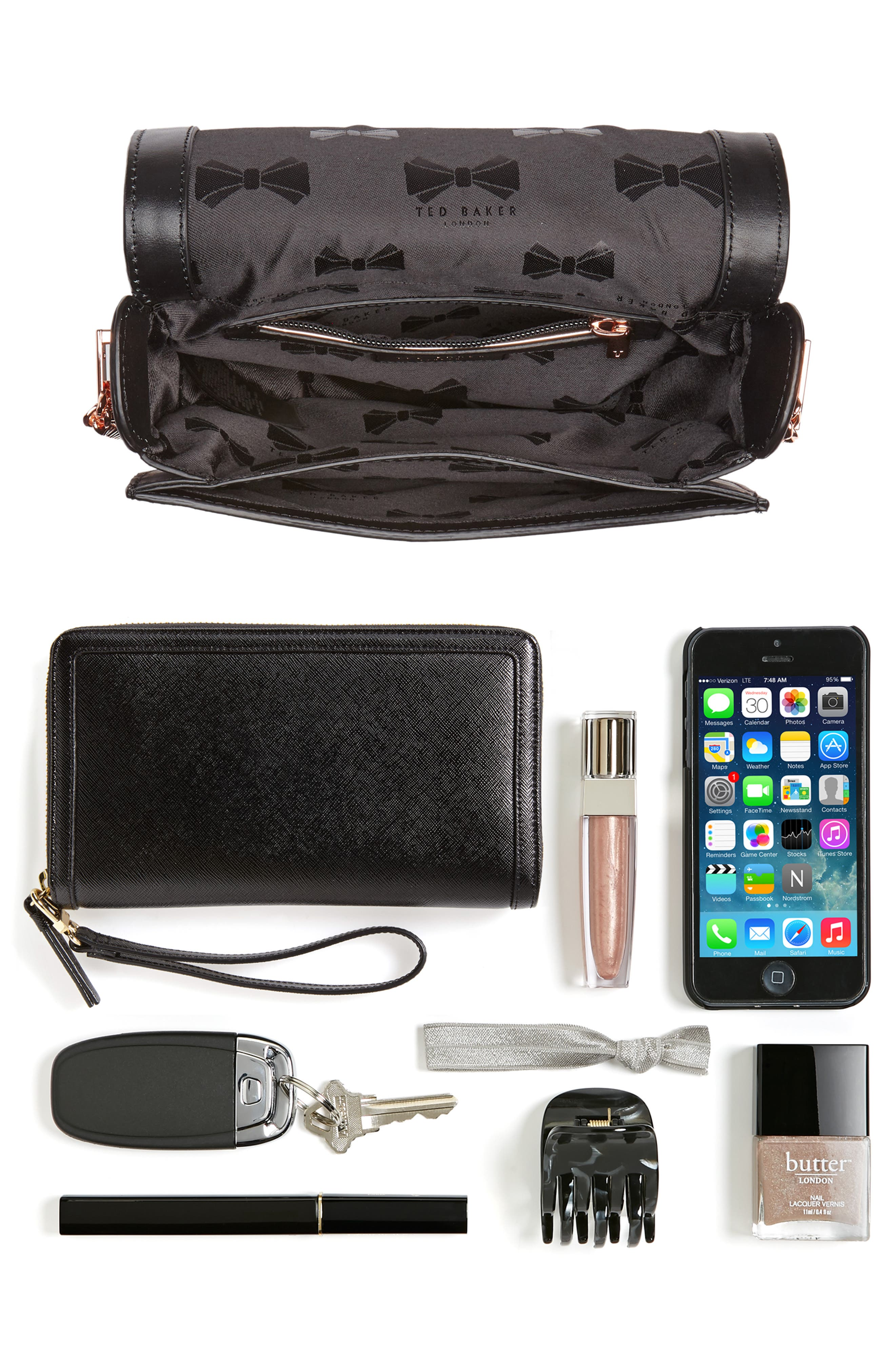 Roslyn Leather Crossbody Bag,                             Alternate thumbnail 7, color,