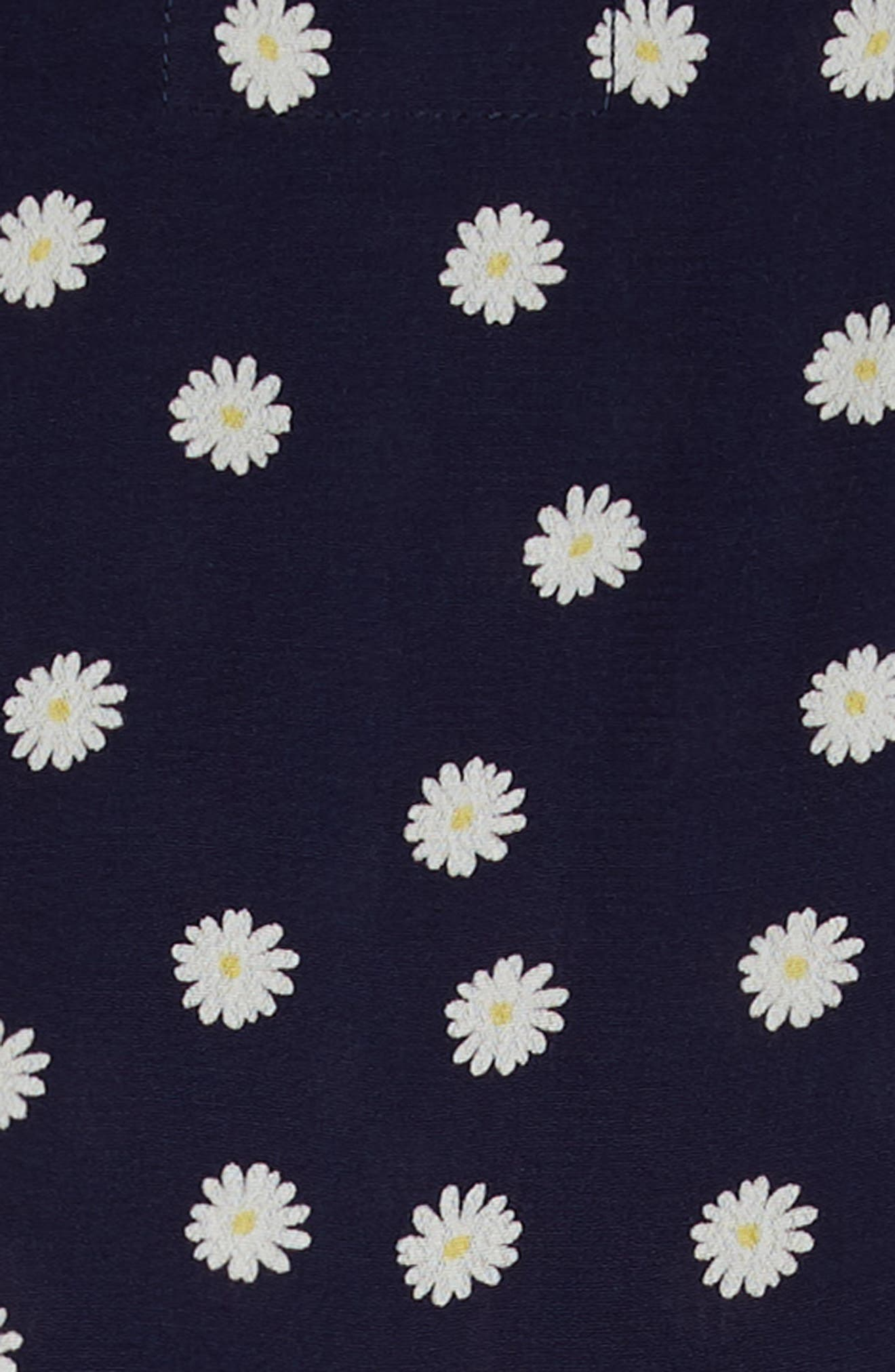 Katie Tiered Dress,                             Alternate thumbnail 3, color,                             Navy Daisies