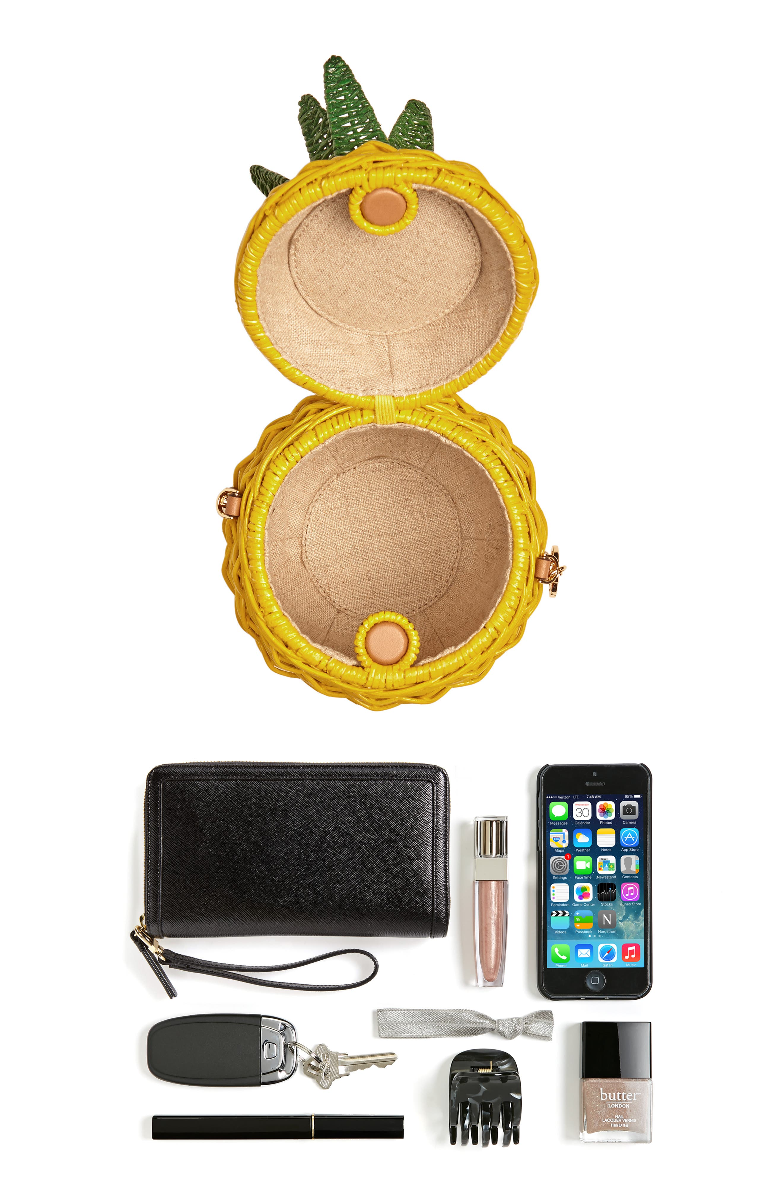MICHAEL Michael Kors Wicker Pineapple Shoulder Bag,                             Alternate thumbnail 7, color,