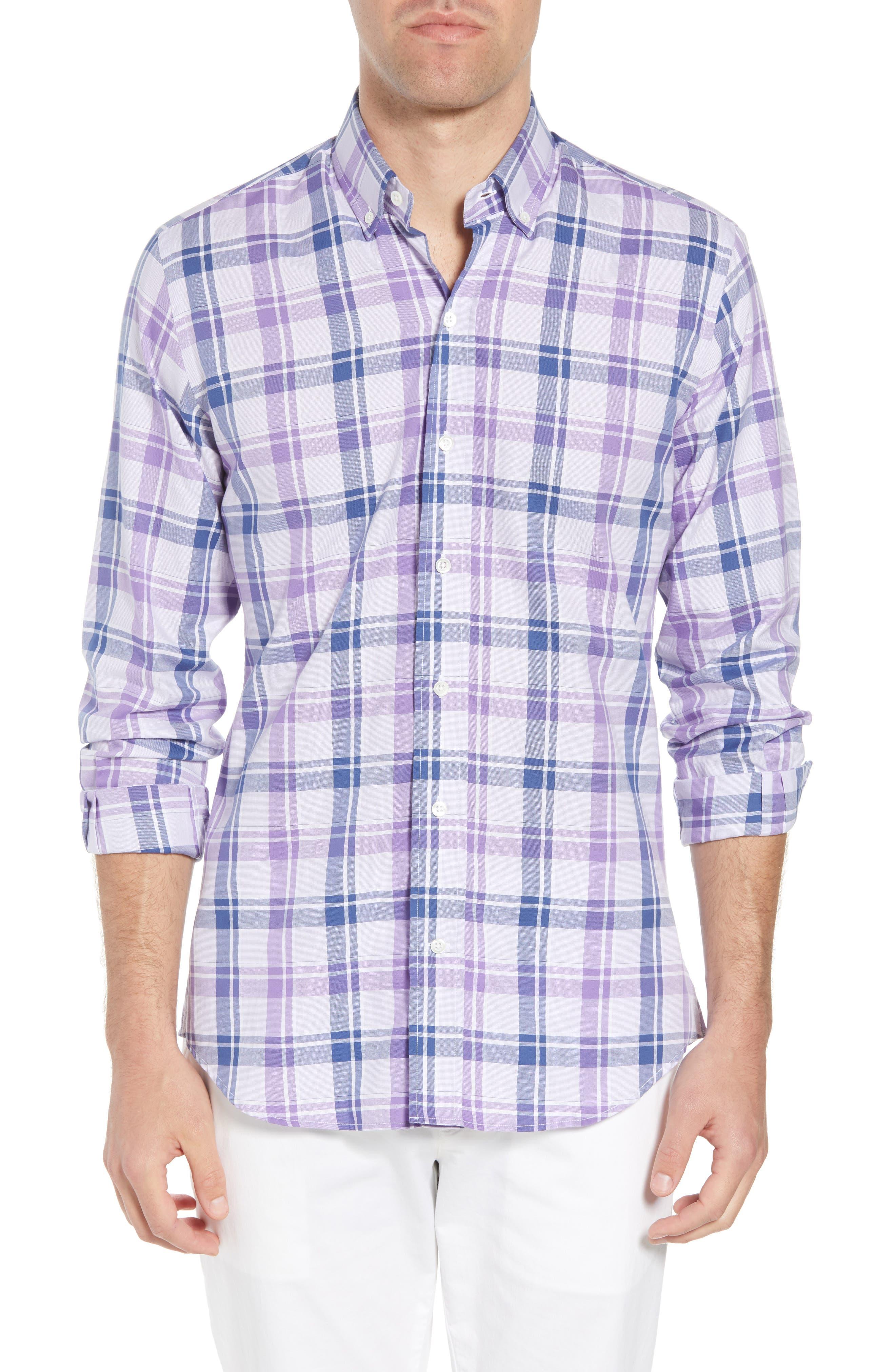 Ledbury Guyton Slim Fit Plaid Sport Shirt