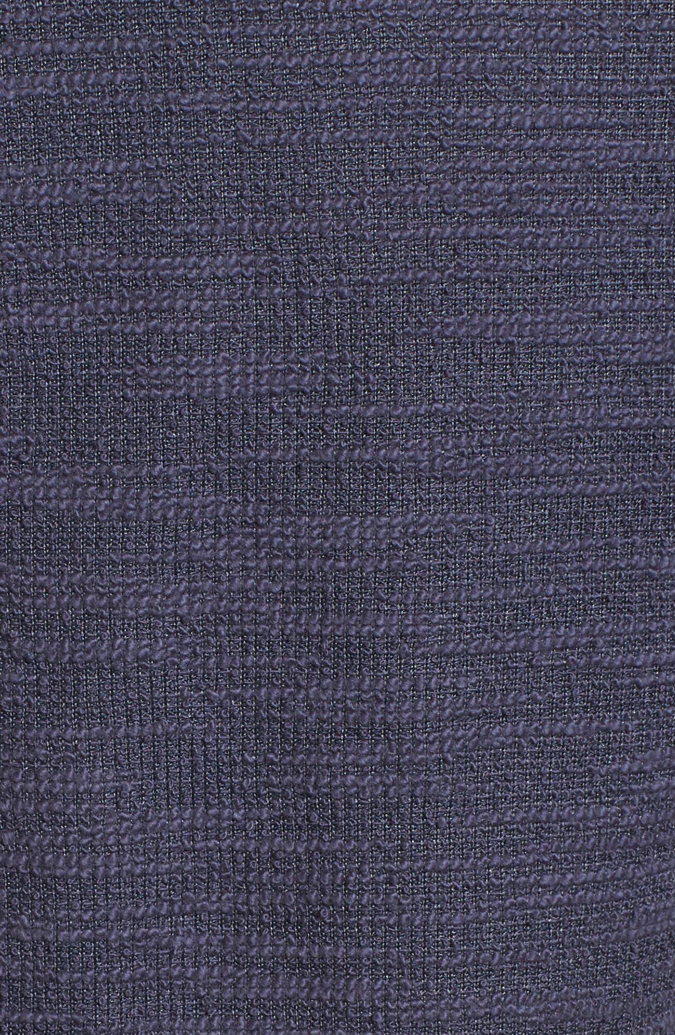 Knit Bomber Jacket,                             Alternate thumbnail 6, color,                             Navy Indigo