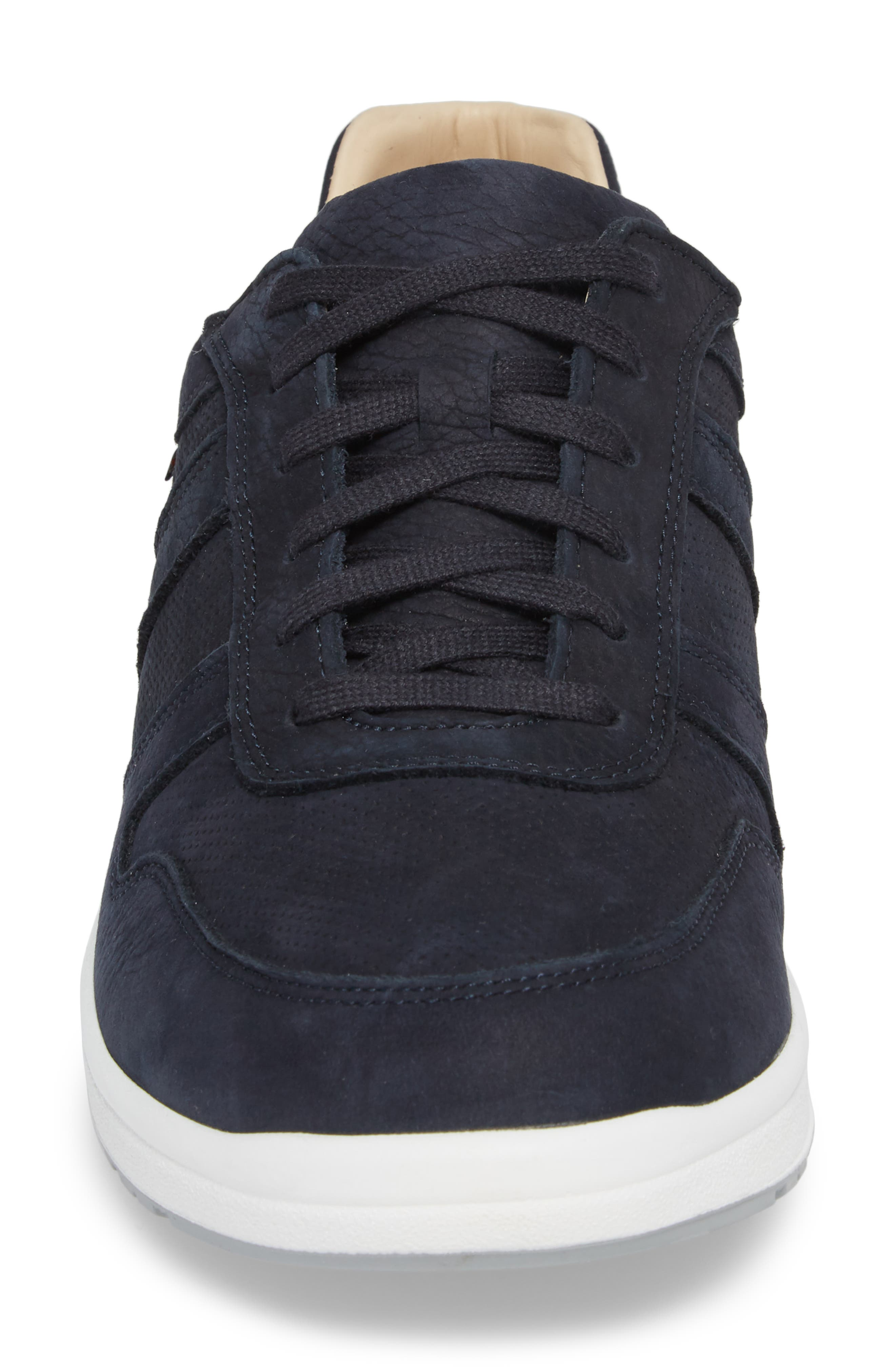 Vito Perforated Sneaker,                             Alternate thumbnail 4, color,                             Navy