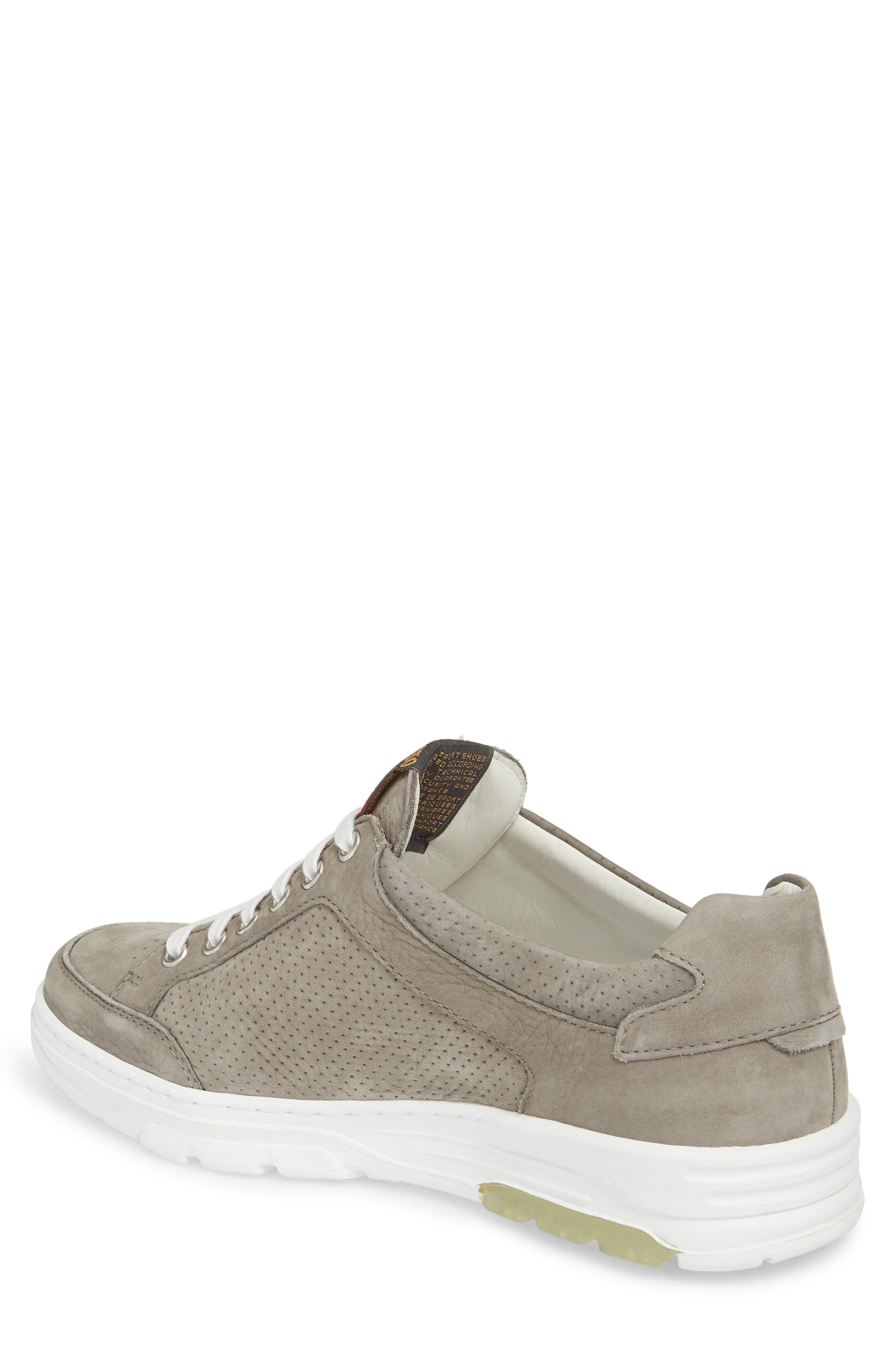 Mathias Perforated Sneaker,                             Alternate thumbnail 2, color,                             Light Grey