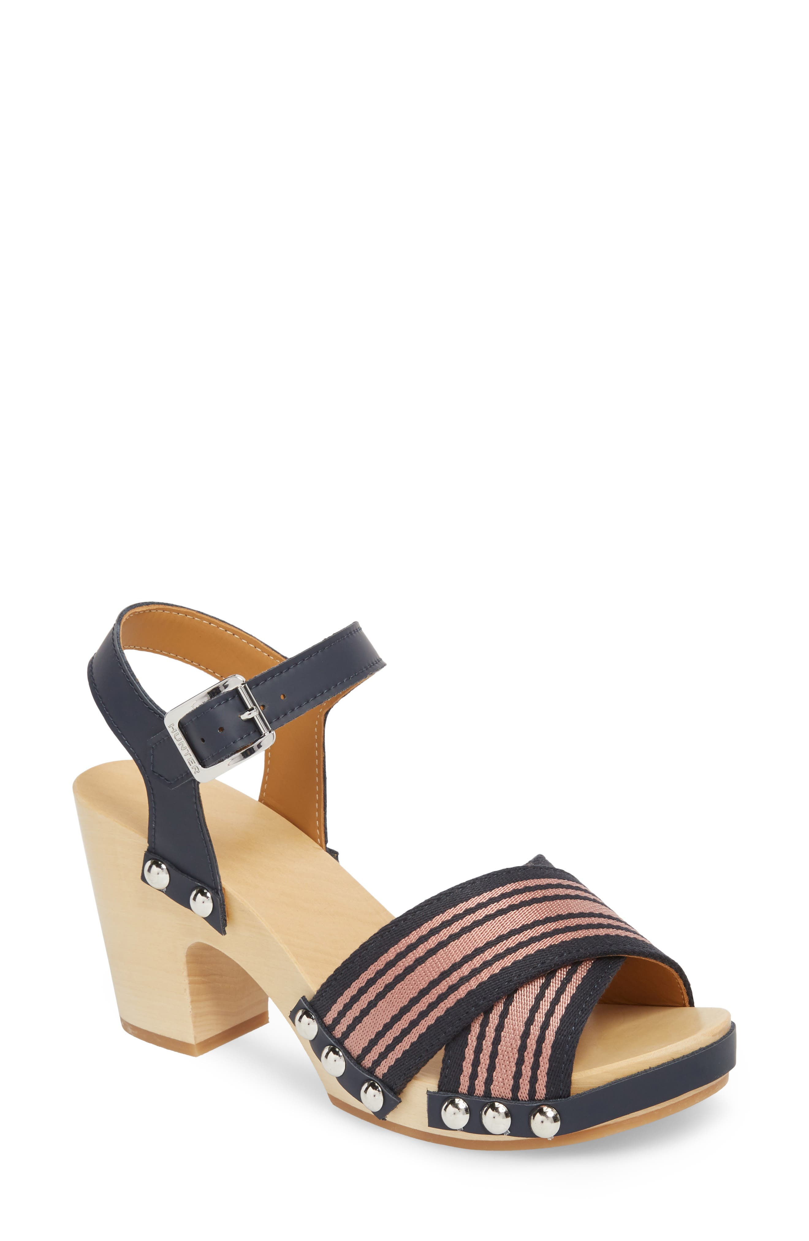 Crisscross Sandal,                         Main,                         color, Navy/ Pale Rose