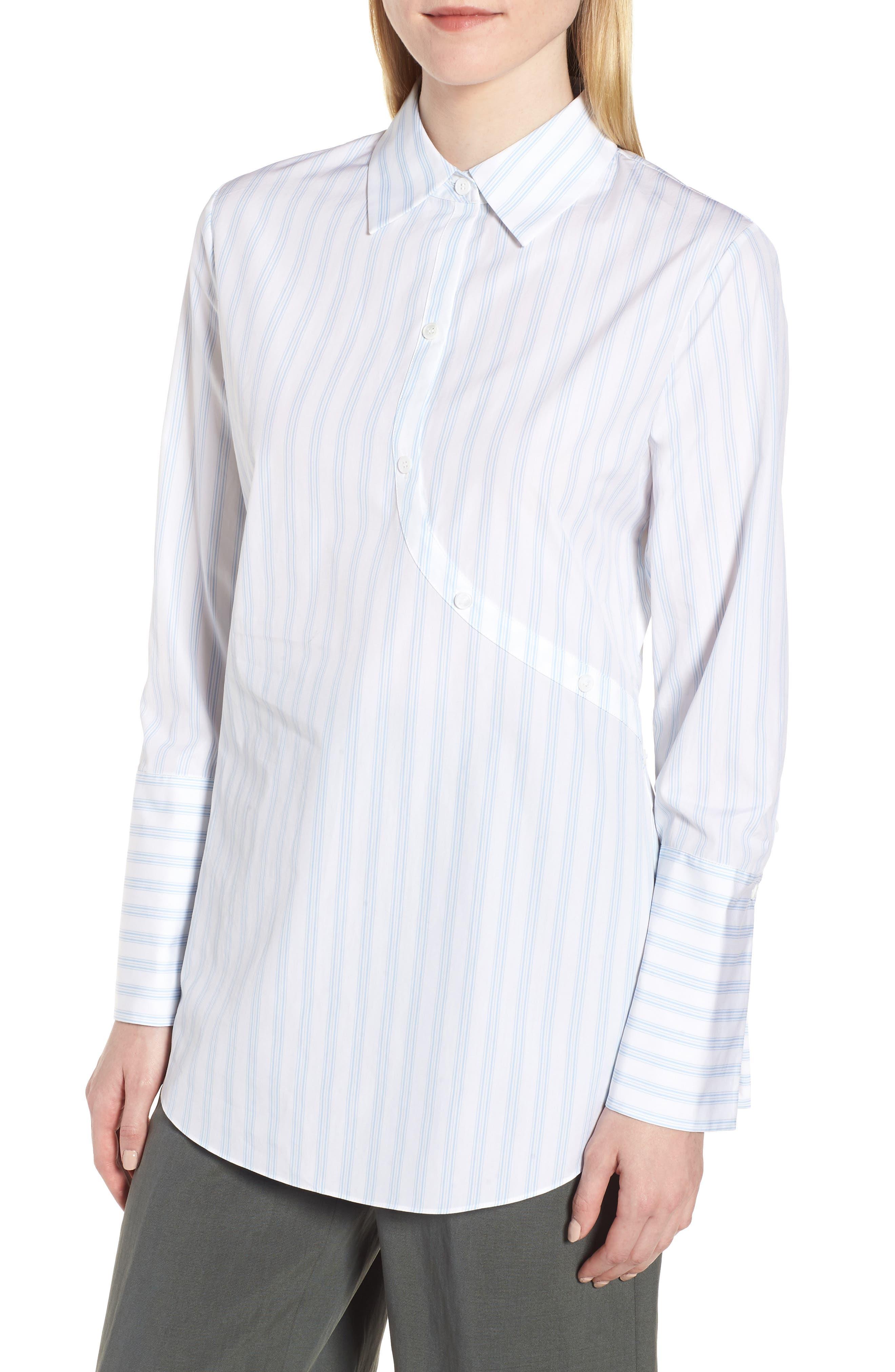 Lewit Twist Back Stripe Shirt